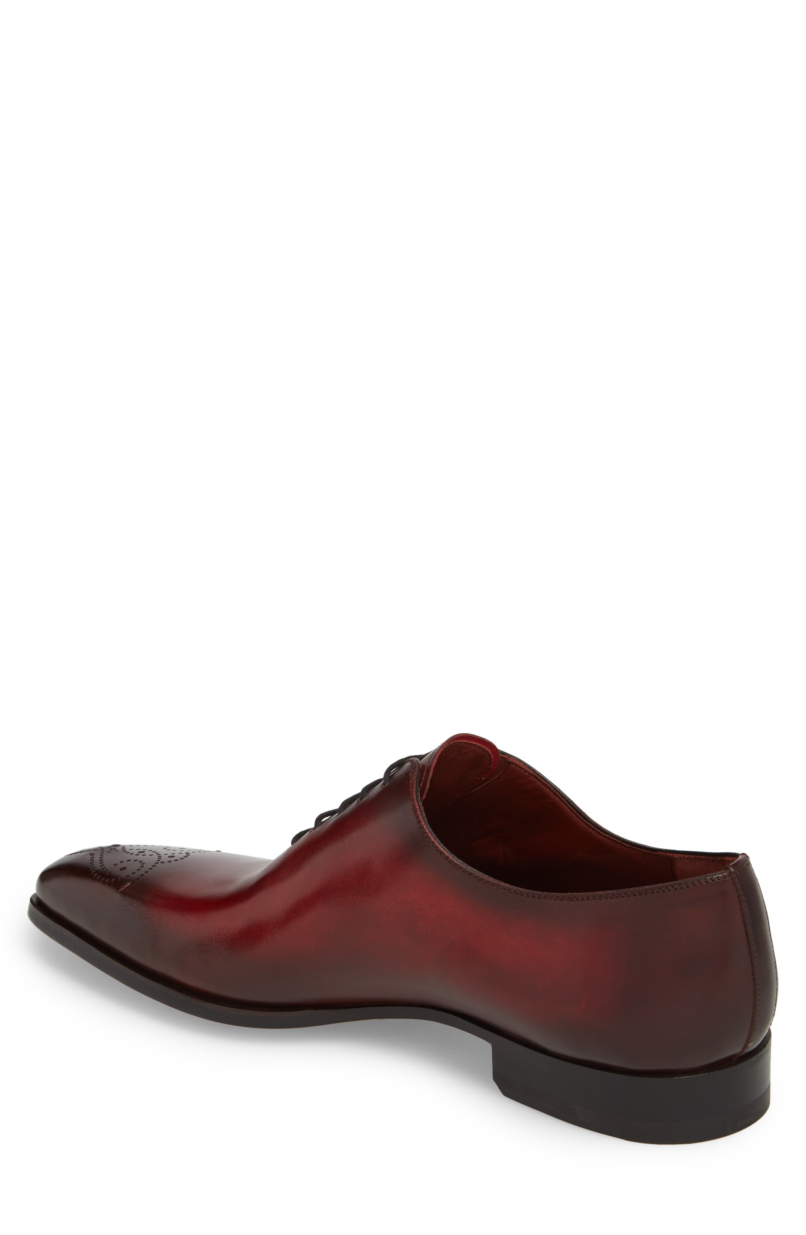 Vada Brogued Whole Cut Shoe,                             Alternate thumbnail 2, color,                             Red Leather