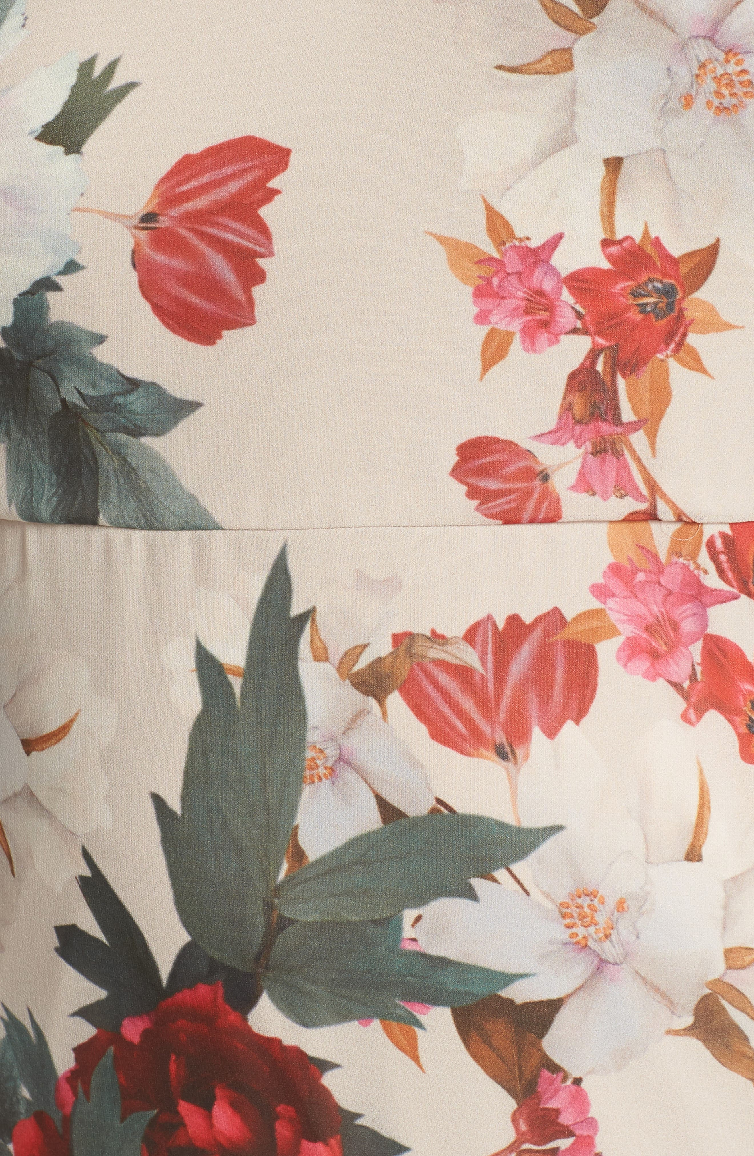 Rosa Floral Chiffon Minidress,                             Alternate thumbnail 6, color,                             Print