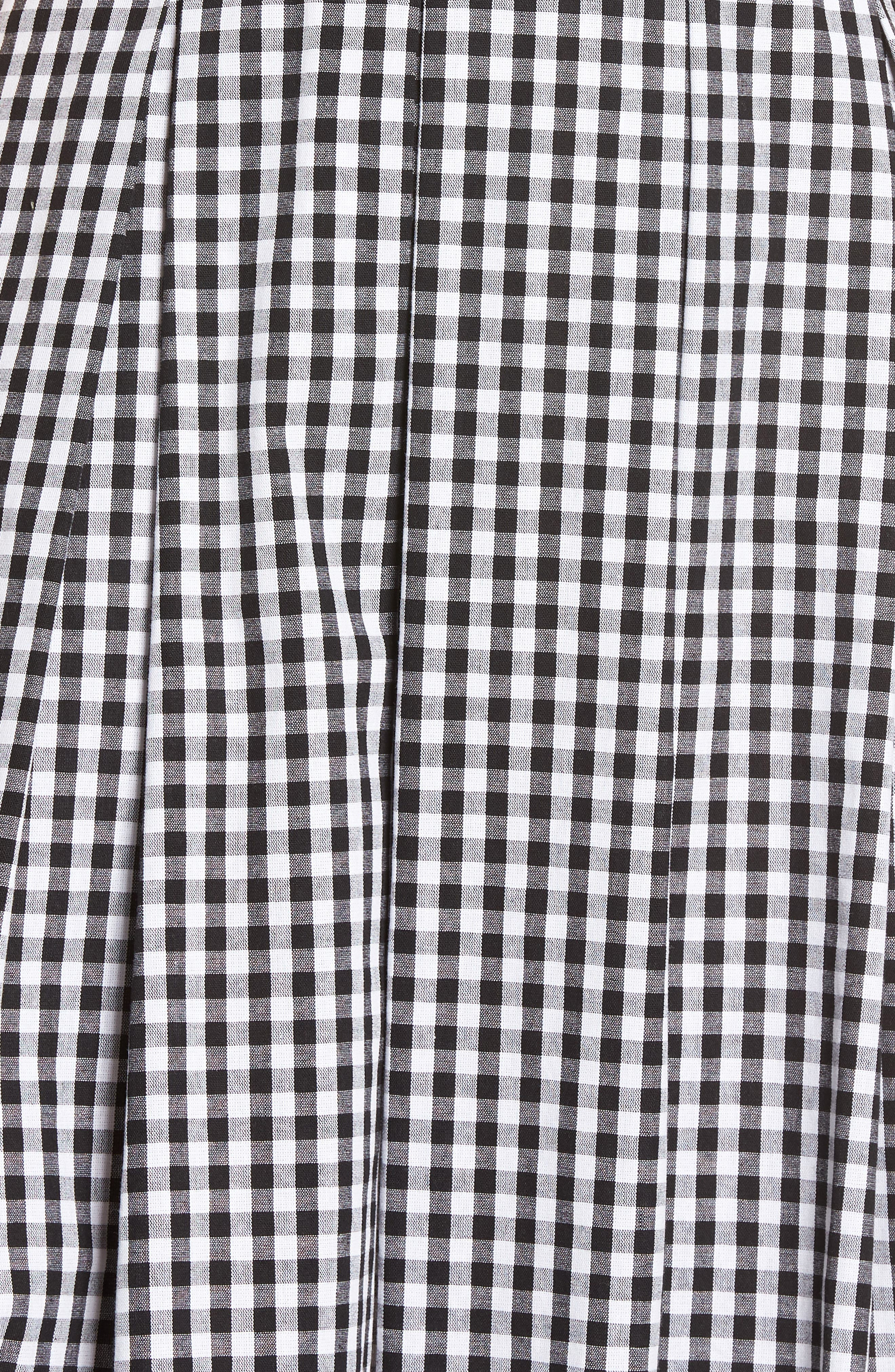 Gingham Halter Dress,                             Alternate thumbnail 6, color,                             Black- White Gingham