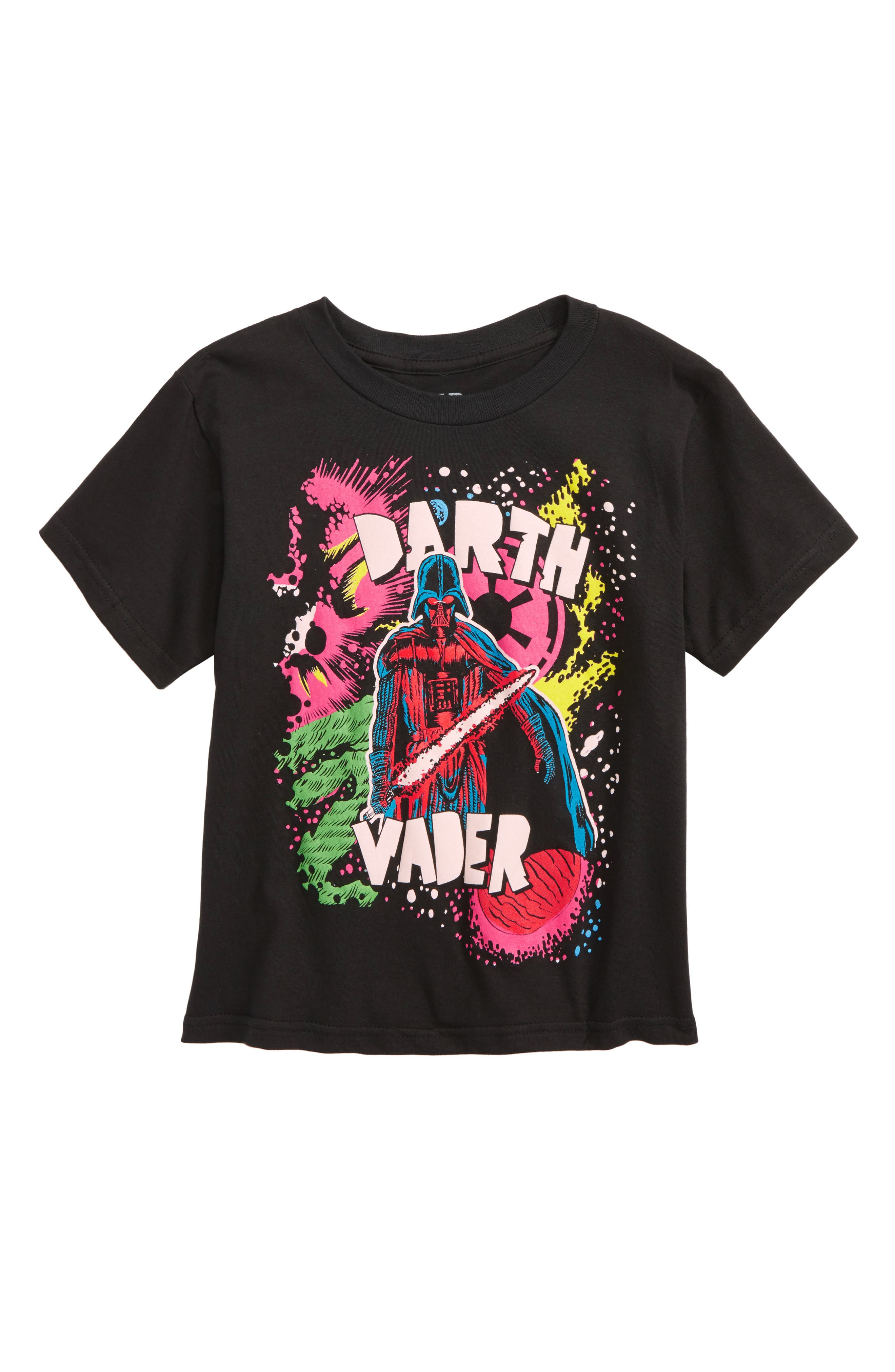 Star Wars<sup>™</sup> Vader in Space Graphic T-Shirt,                             Main thumbnail 1, color,                             Black