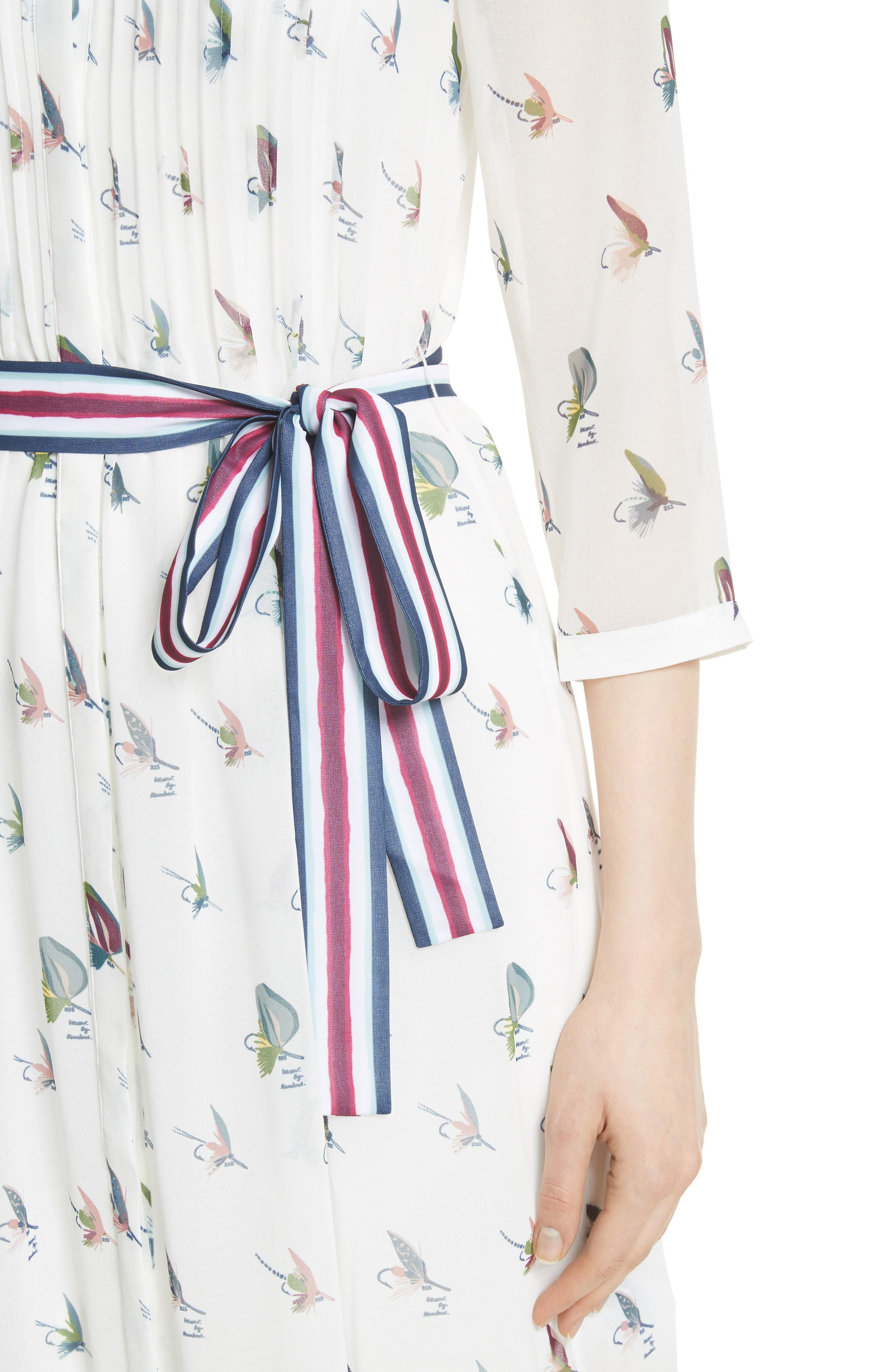 Colour by Numbers Zenaa Print Shirtdress,                             Alternate thumbnail 4, color,                             Ivory