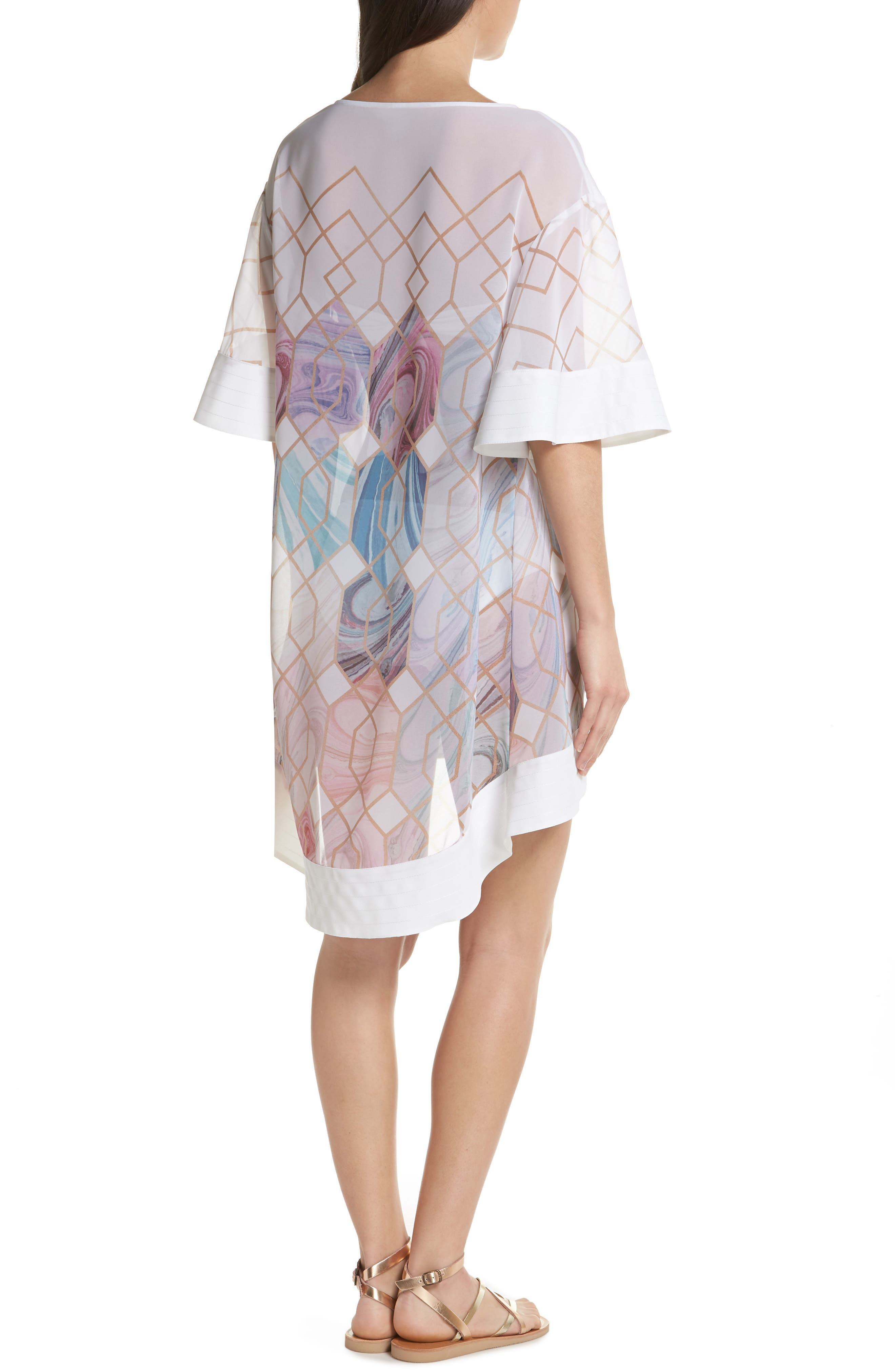 Sea of Clouds Cover-Up Tunic,                             Alternate thumbnail 2, color,                             White