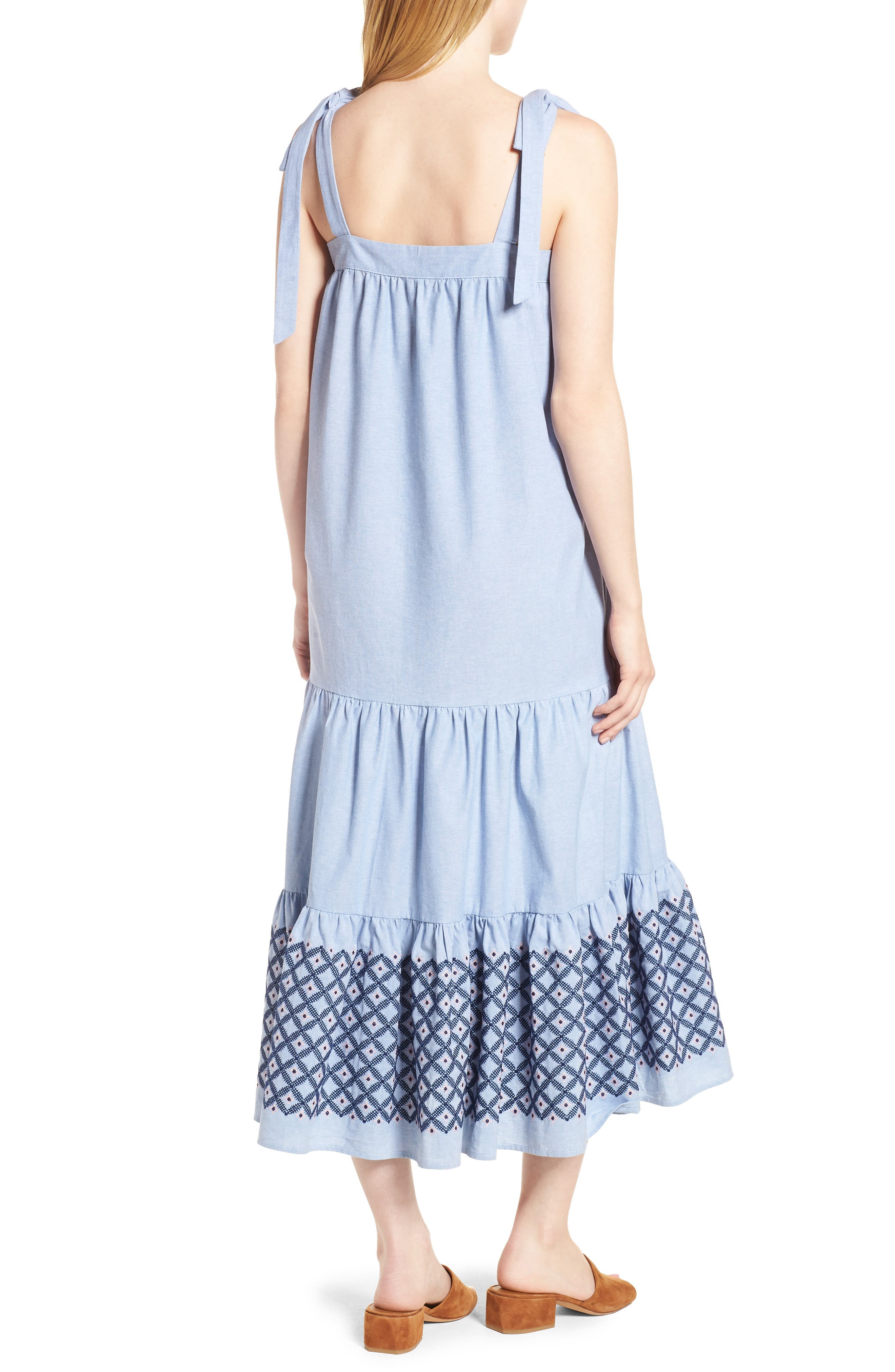 Lucy Dress,                             Alternate thumbnail 2, color,                             Blue