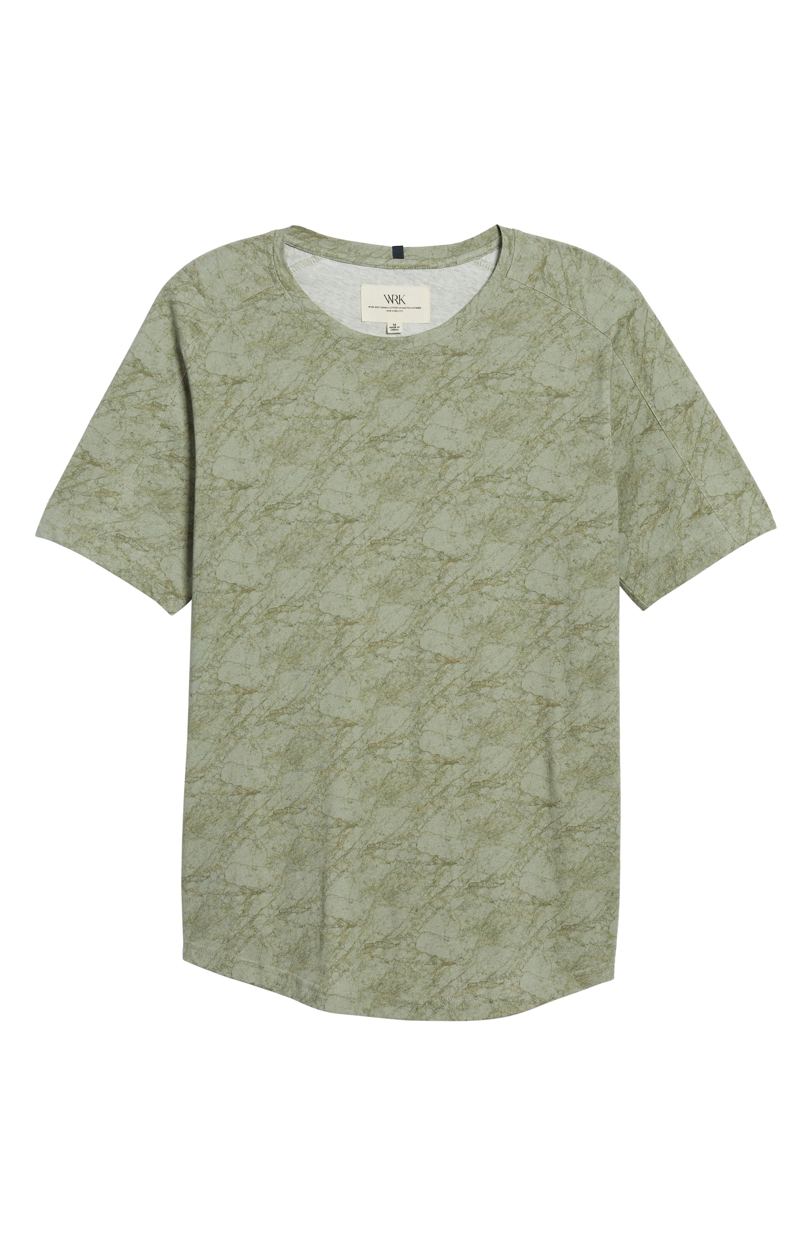 Chelsea Marble Print T-Shirt,                             Alternate thumbnail 6, color,                             Green