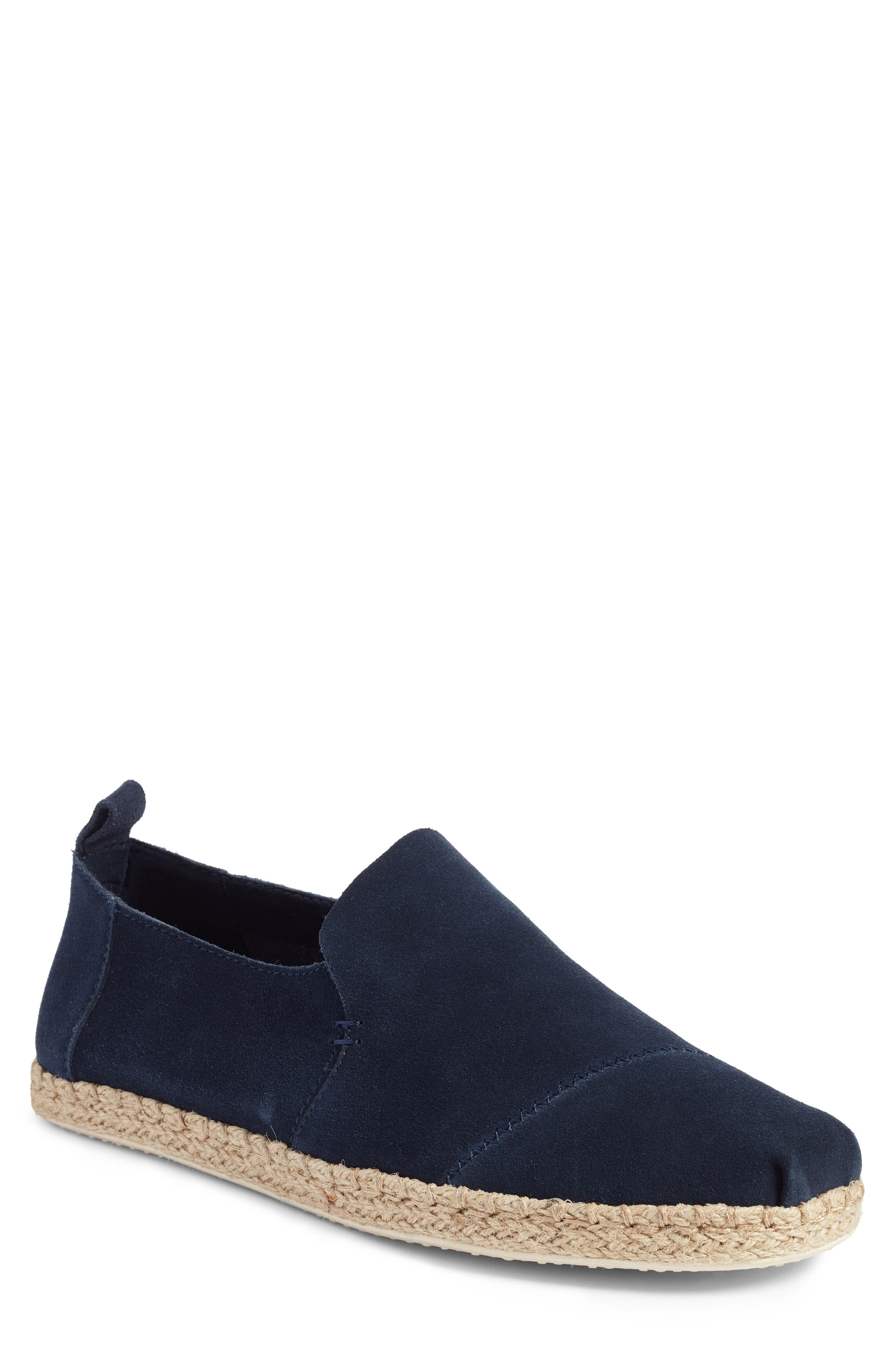 Deconstructed Alpargata,                         Main,                         color, Navy Suede