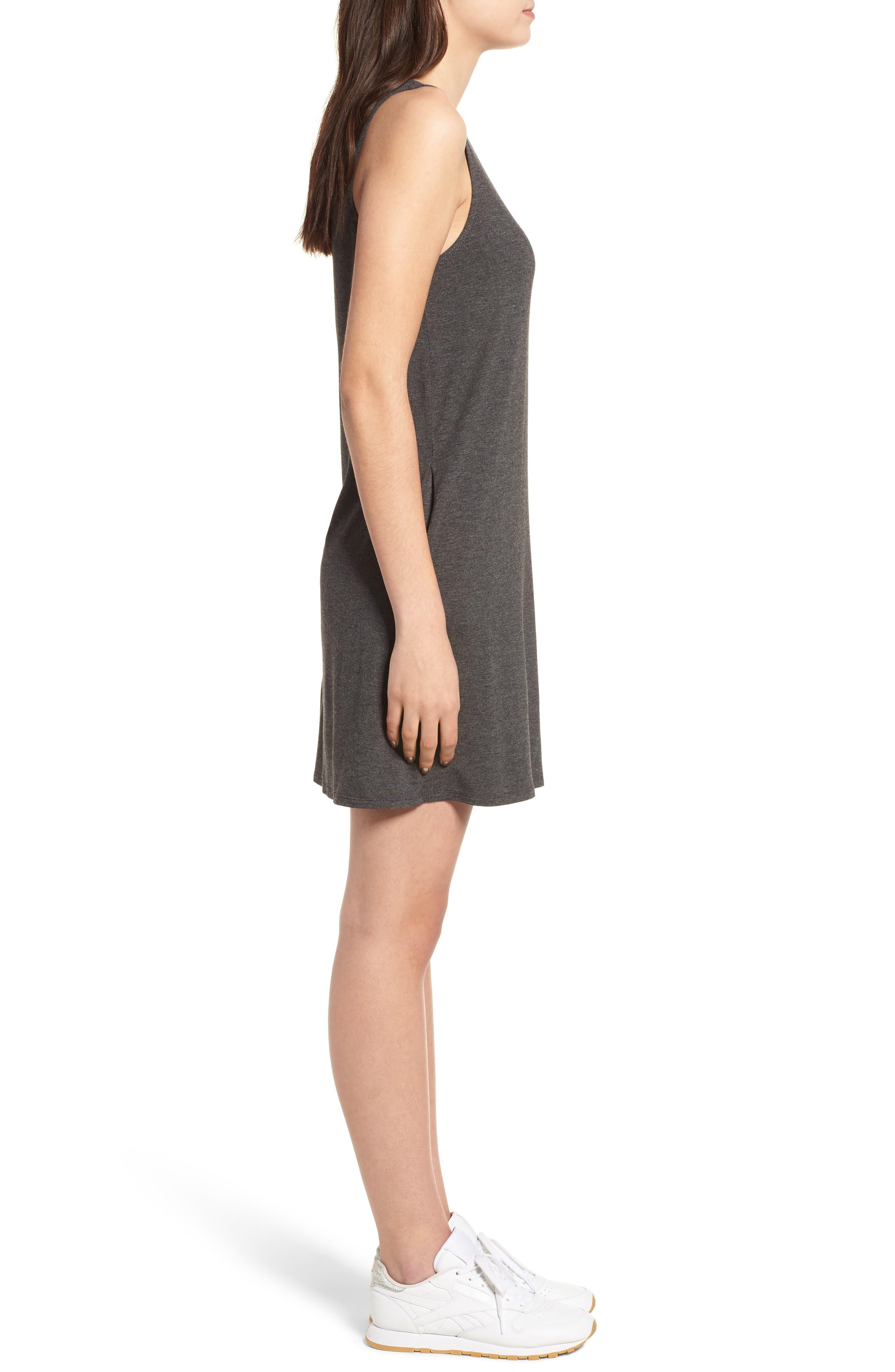 Pocket Tank Dress,                             Alternate thumbnail 3, color,                             Dark Charcoal