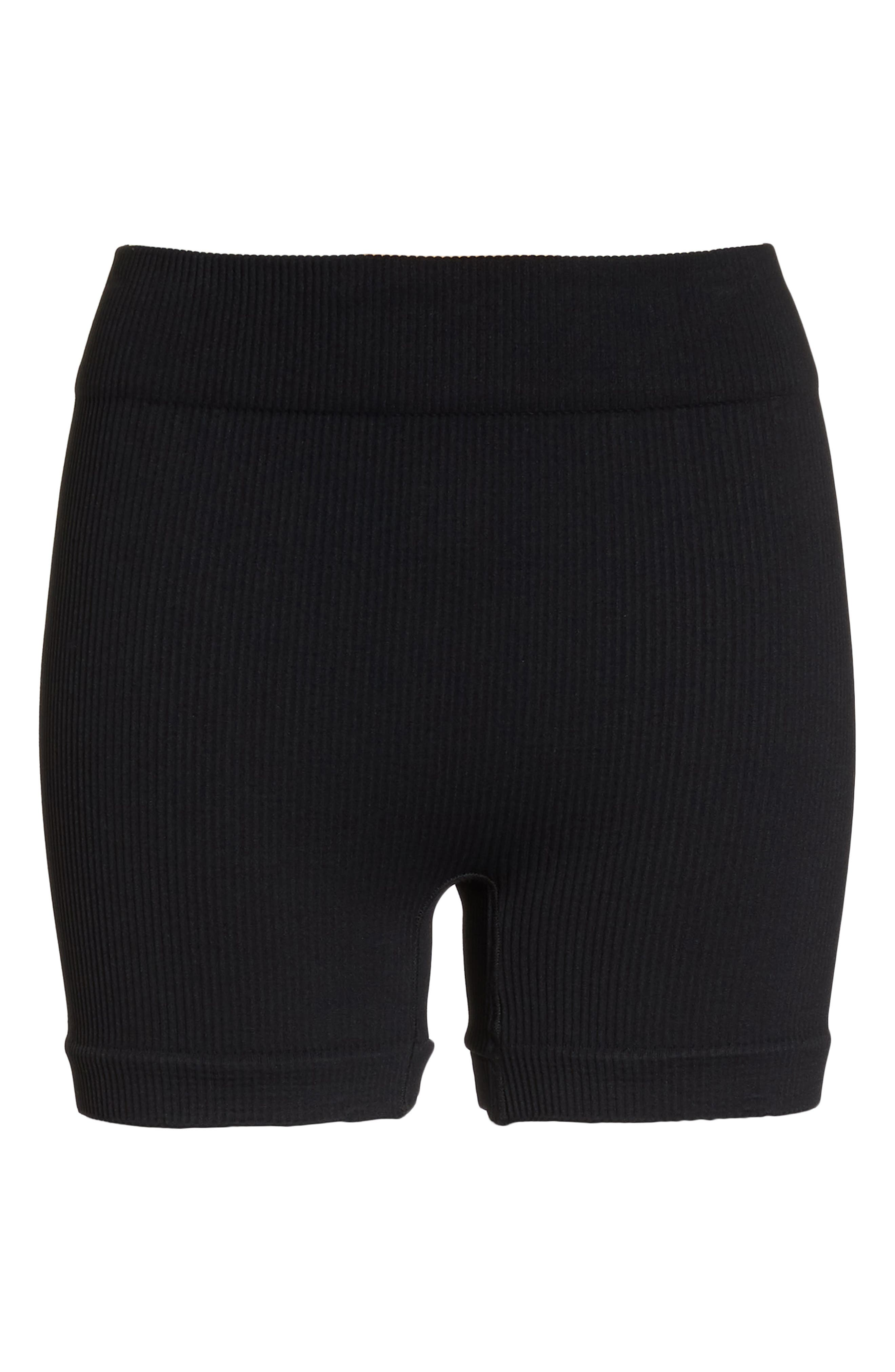 Free People Seamless Shorts,                             Alternate thumbnail 7, color,                             Black
