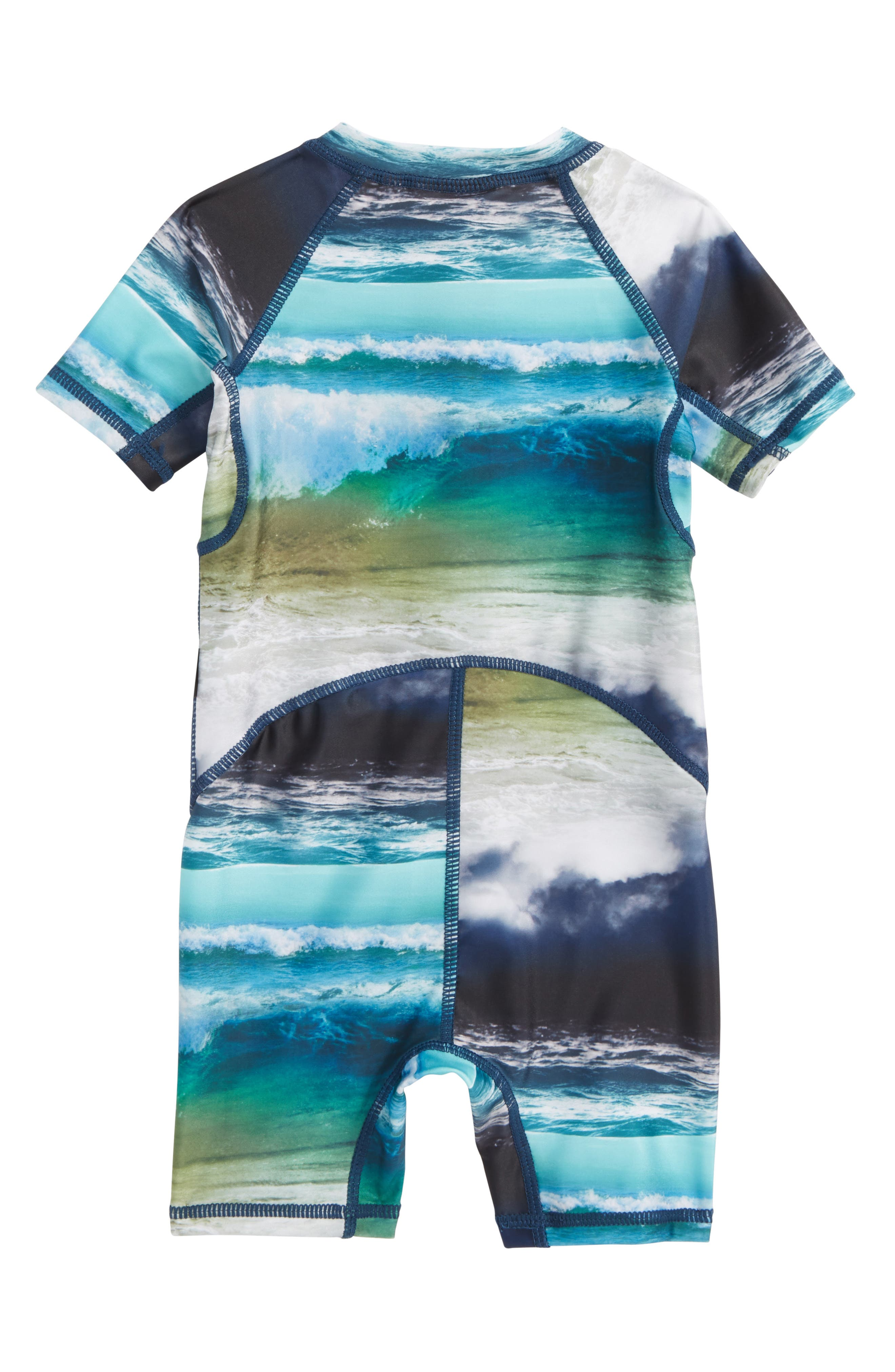 Neka One-Piece Rashguard Swimsuit,                             Alternate thumbnail 2, color,                             Ocean Stripe