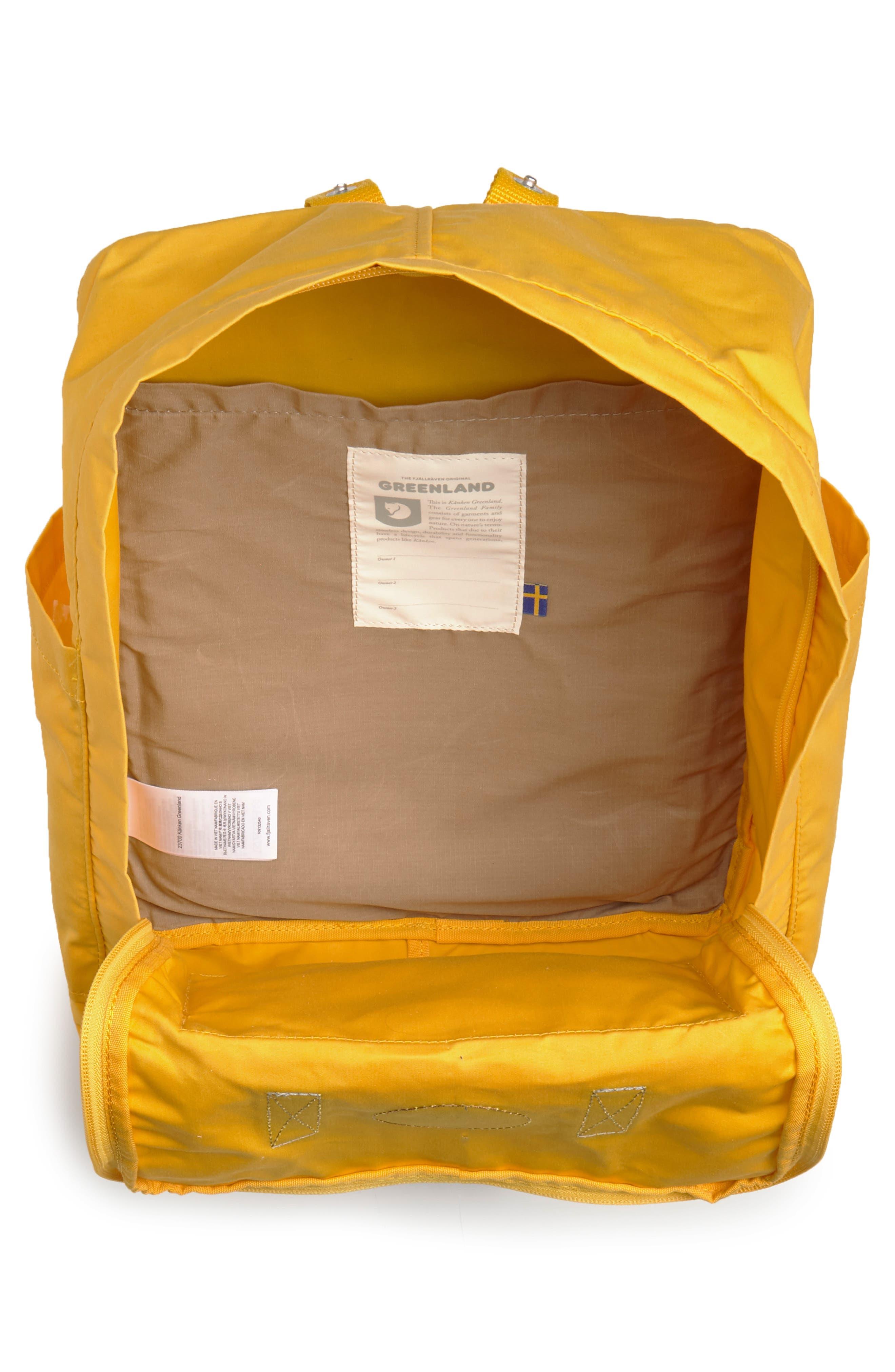 Kånken Greenland Backpack,                             Alternate thumbnail 4, color,                             Dandelion