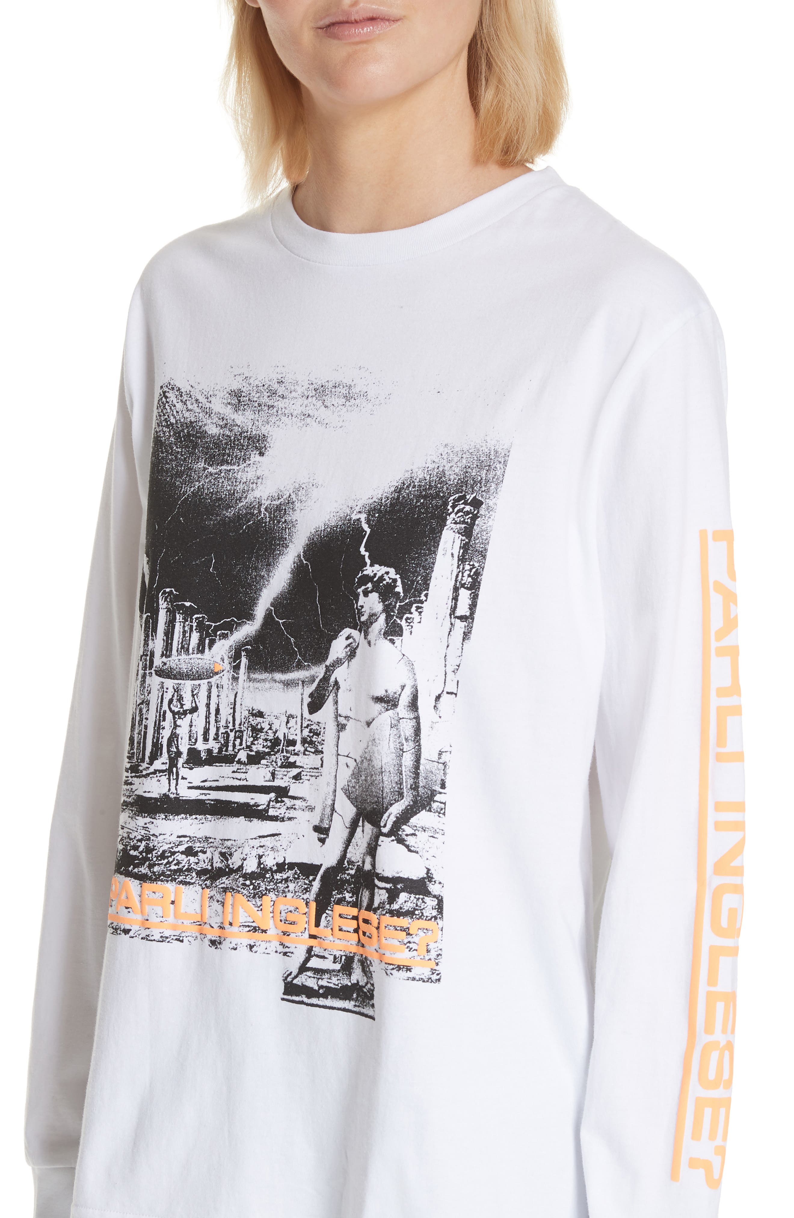 Dave Graphic Tee,                             Alternate thumbnail 4, color,                             White