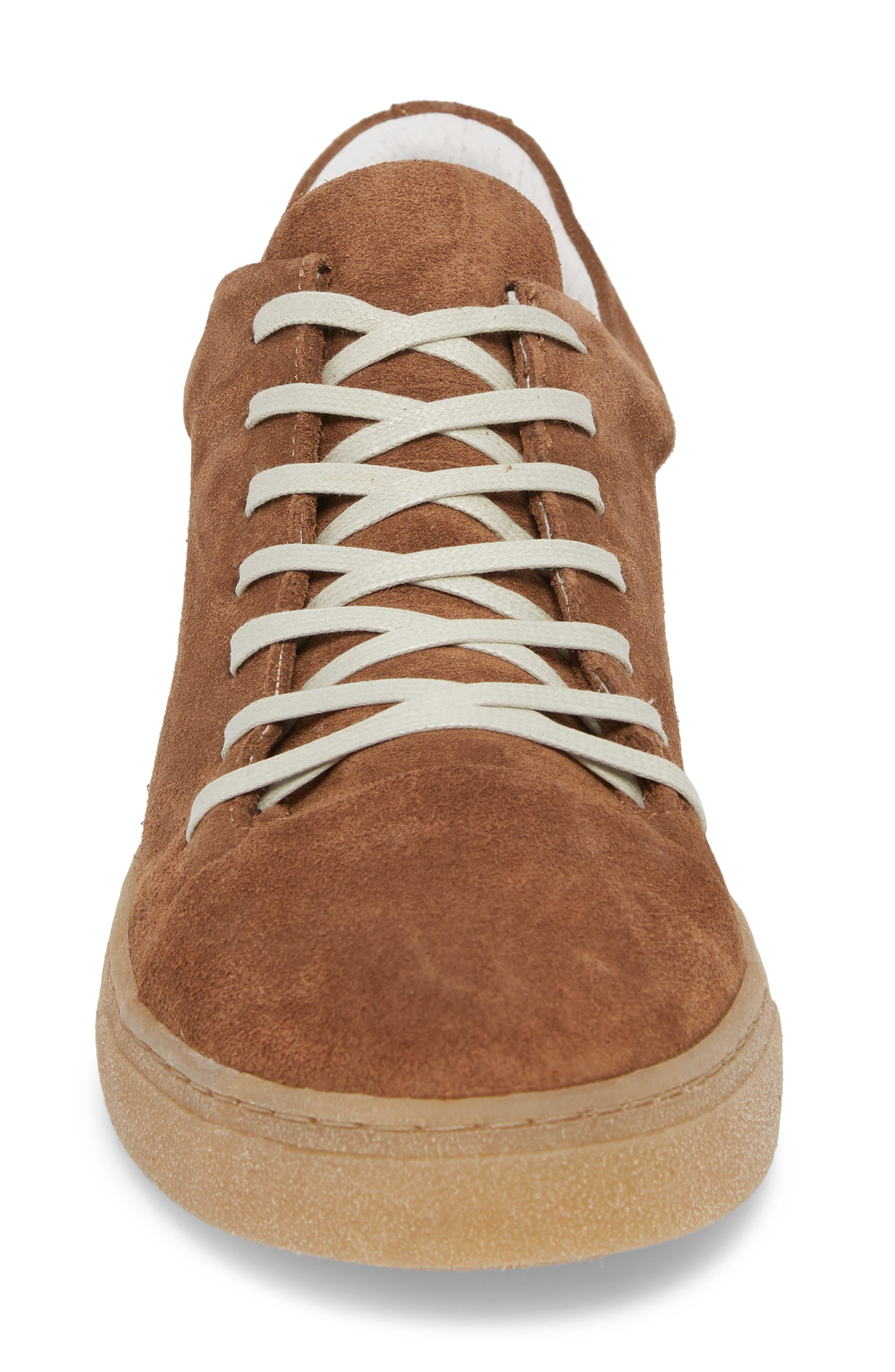 Rex Water Resistant Sneaker,                             Alternate thumbnail 4, color,                             Tobacco