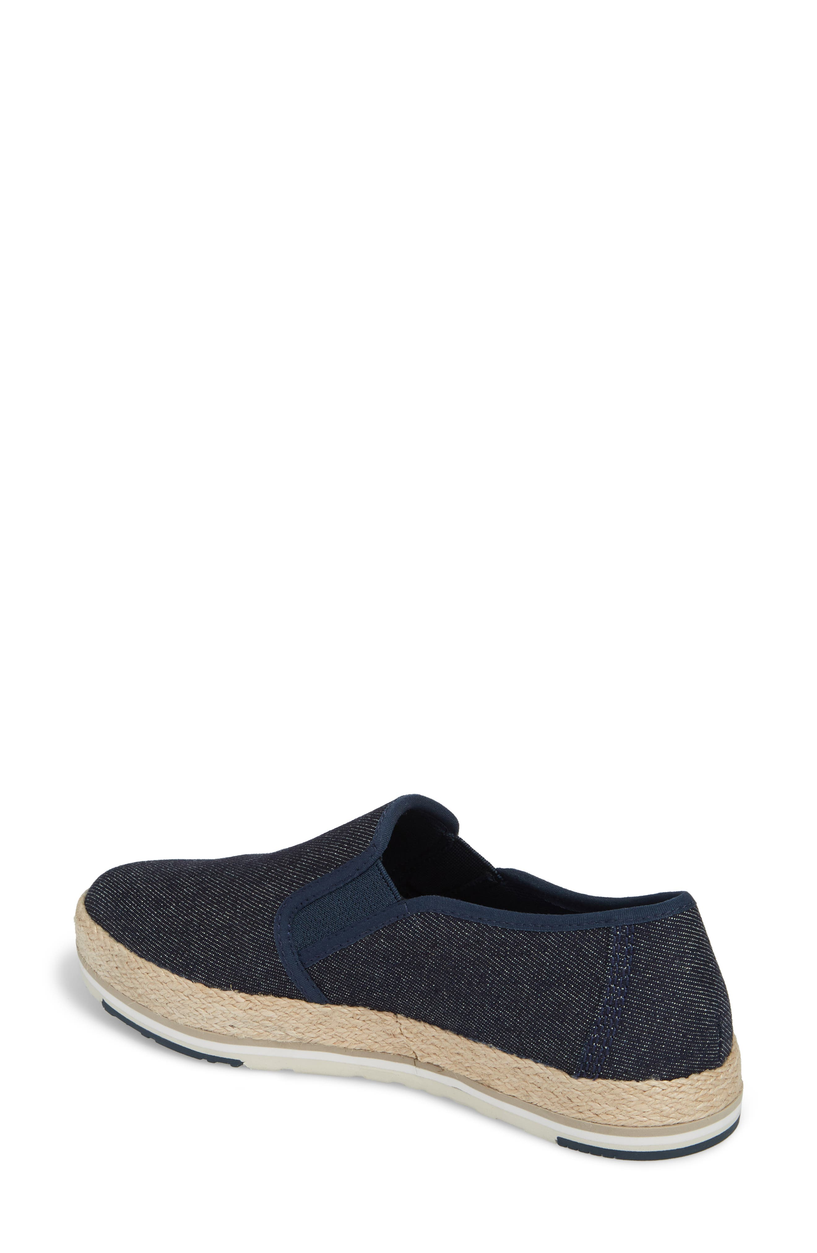Eivissa Sea Slip-On Sneaker,                             Alternate thumbnail 2, color,                             Navy Canvas