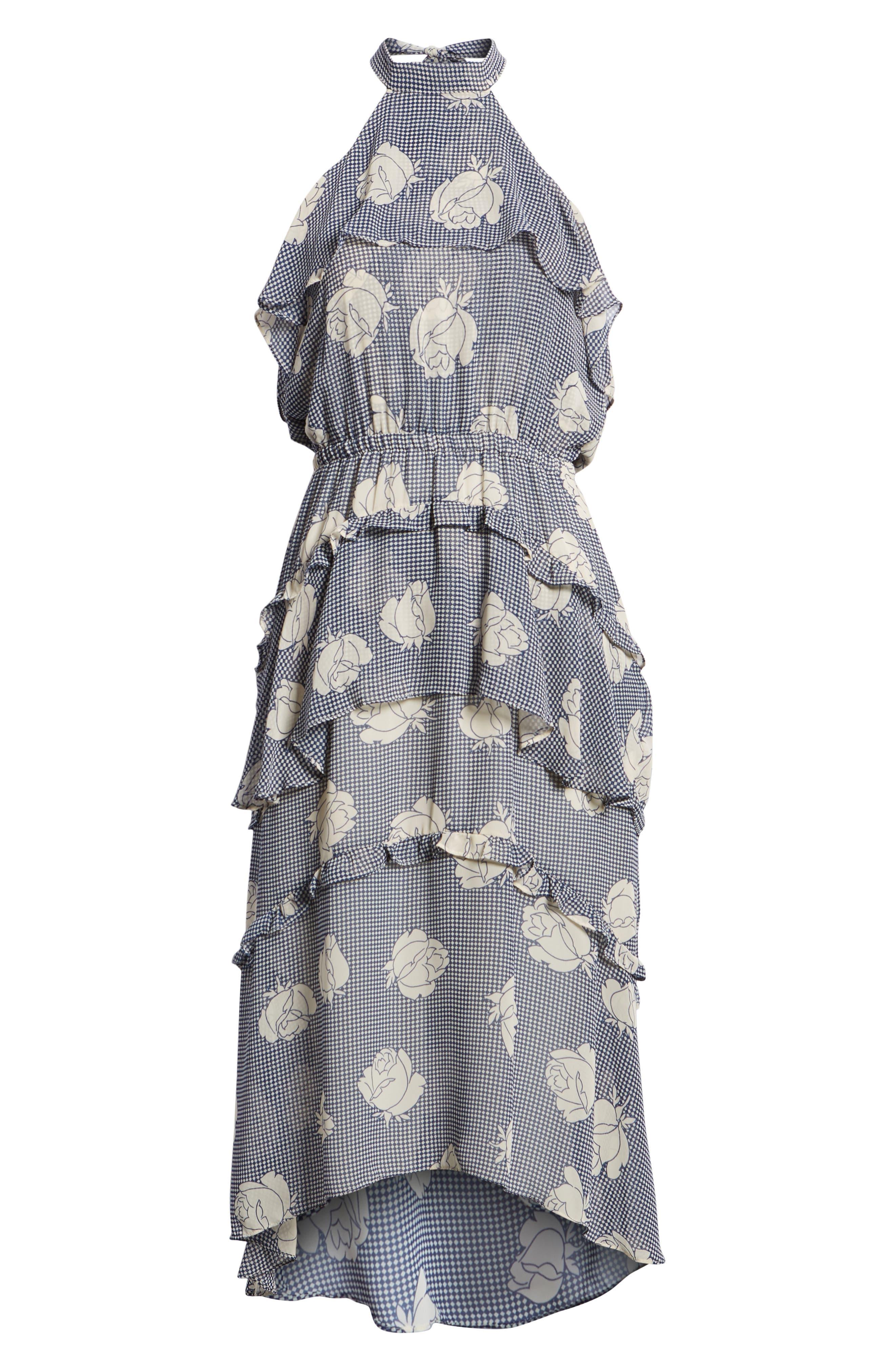 Anca Halter Dress,                             Alternate thumbnail 7, color,                             Multi Fe12