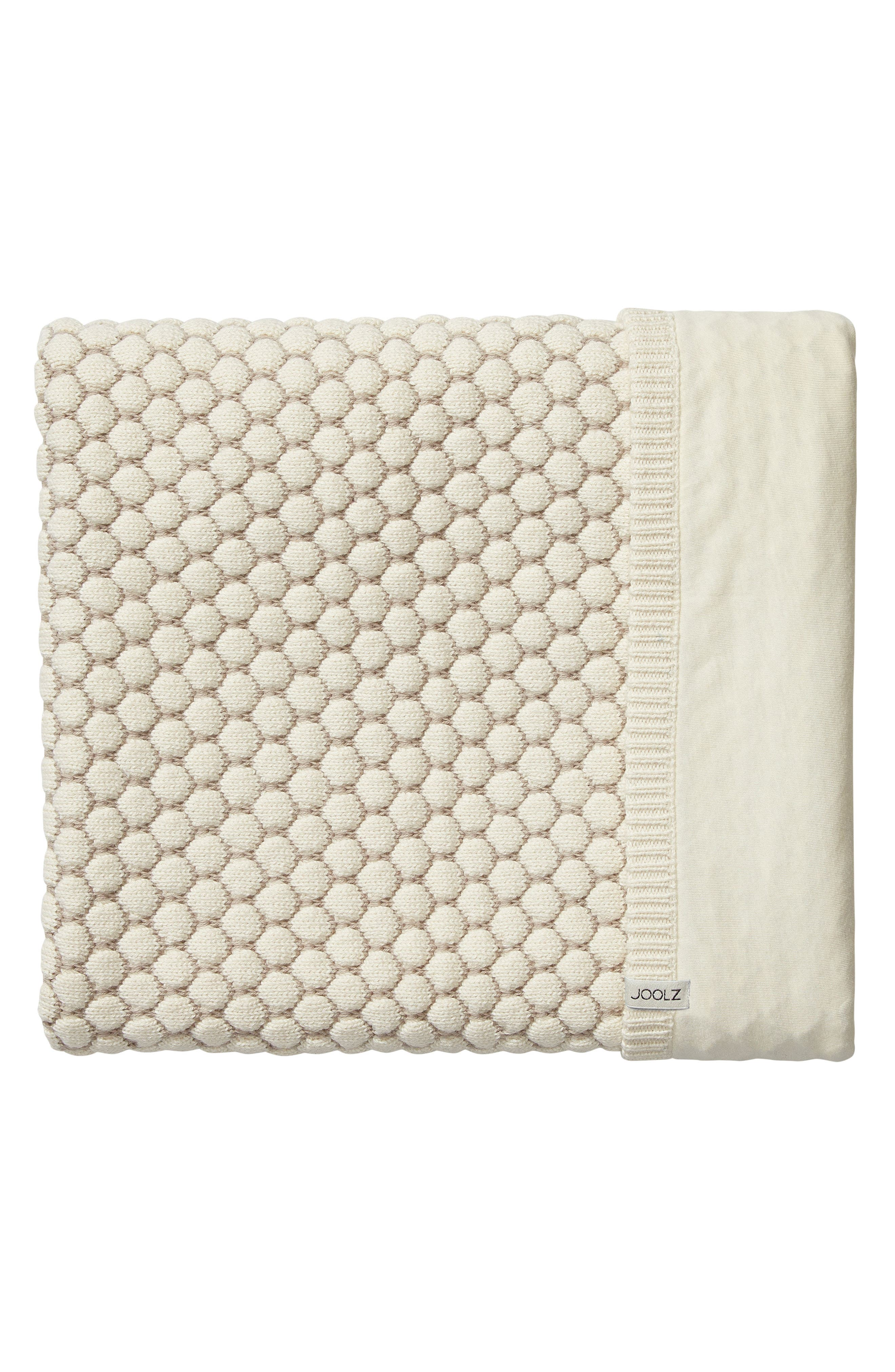 Essentials Honeycomb Organic Cotton Blanket,                             Main thumbnail 1, color,                             Off White