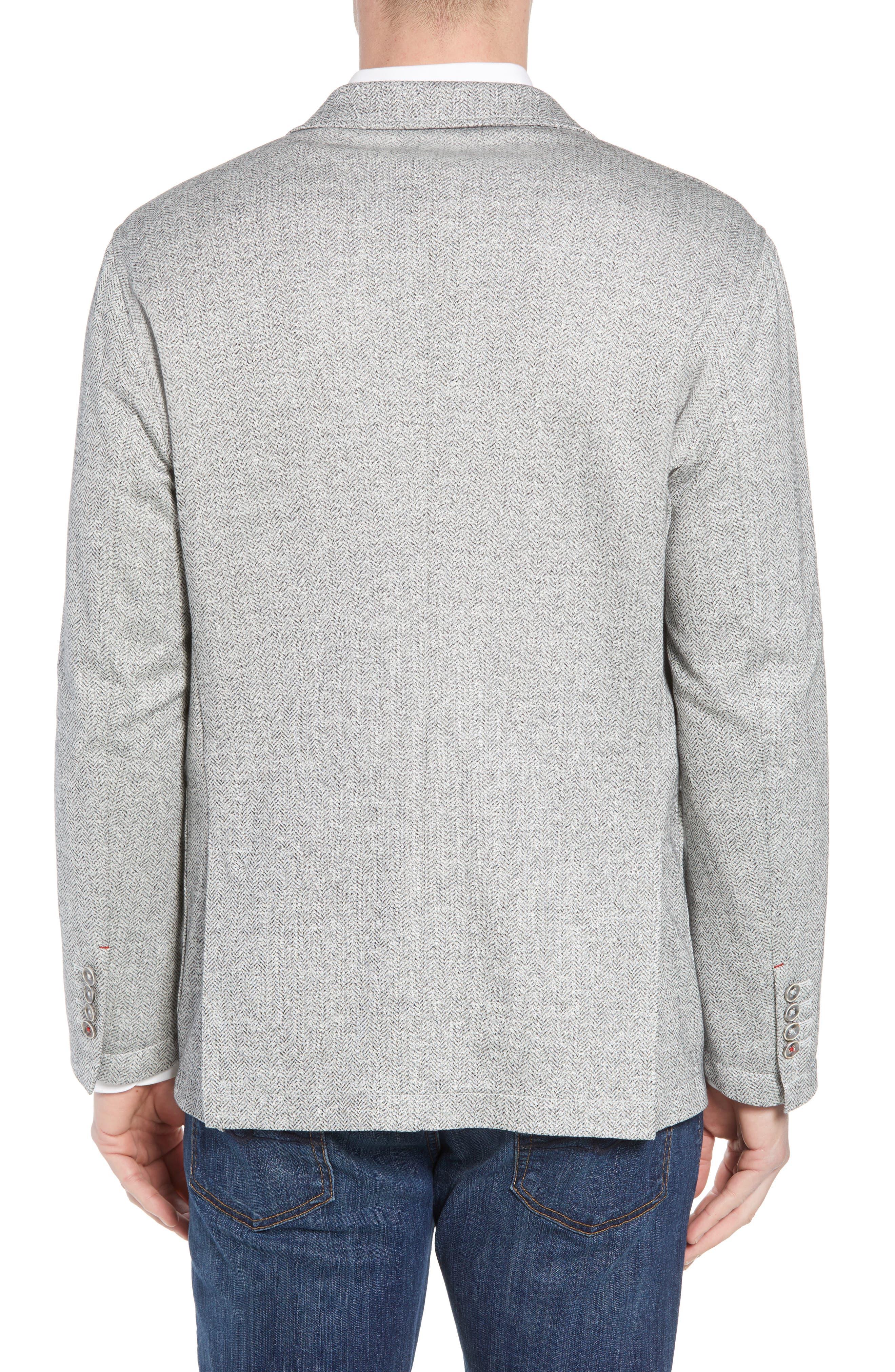 Alternate Image 2  - Bugatchi Regular Fit Herringbone Cotton & Linen Blazer