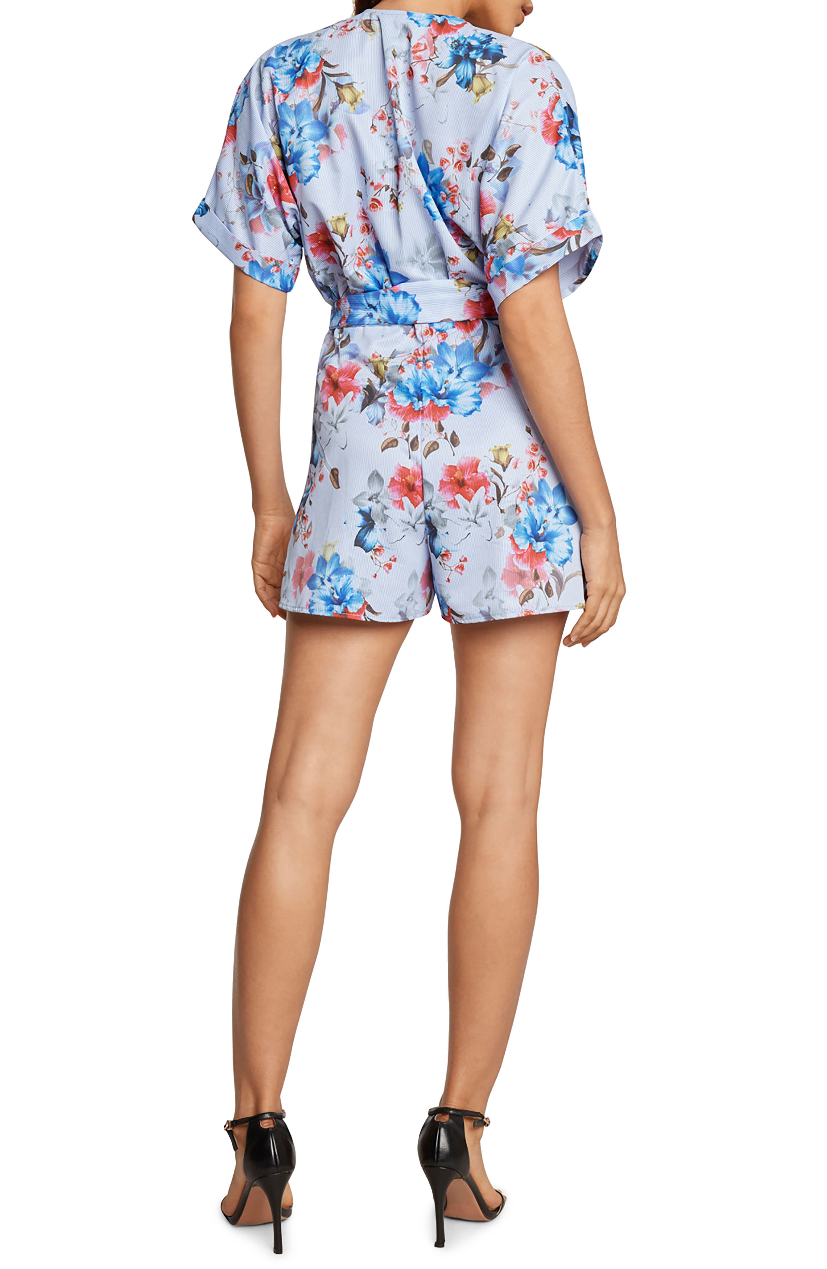 Alessia Plunge Romper,                             Alternate thumbnail 2, color,                             Chambray
