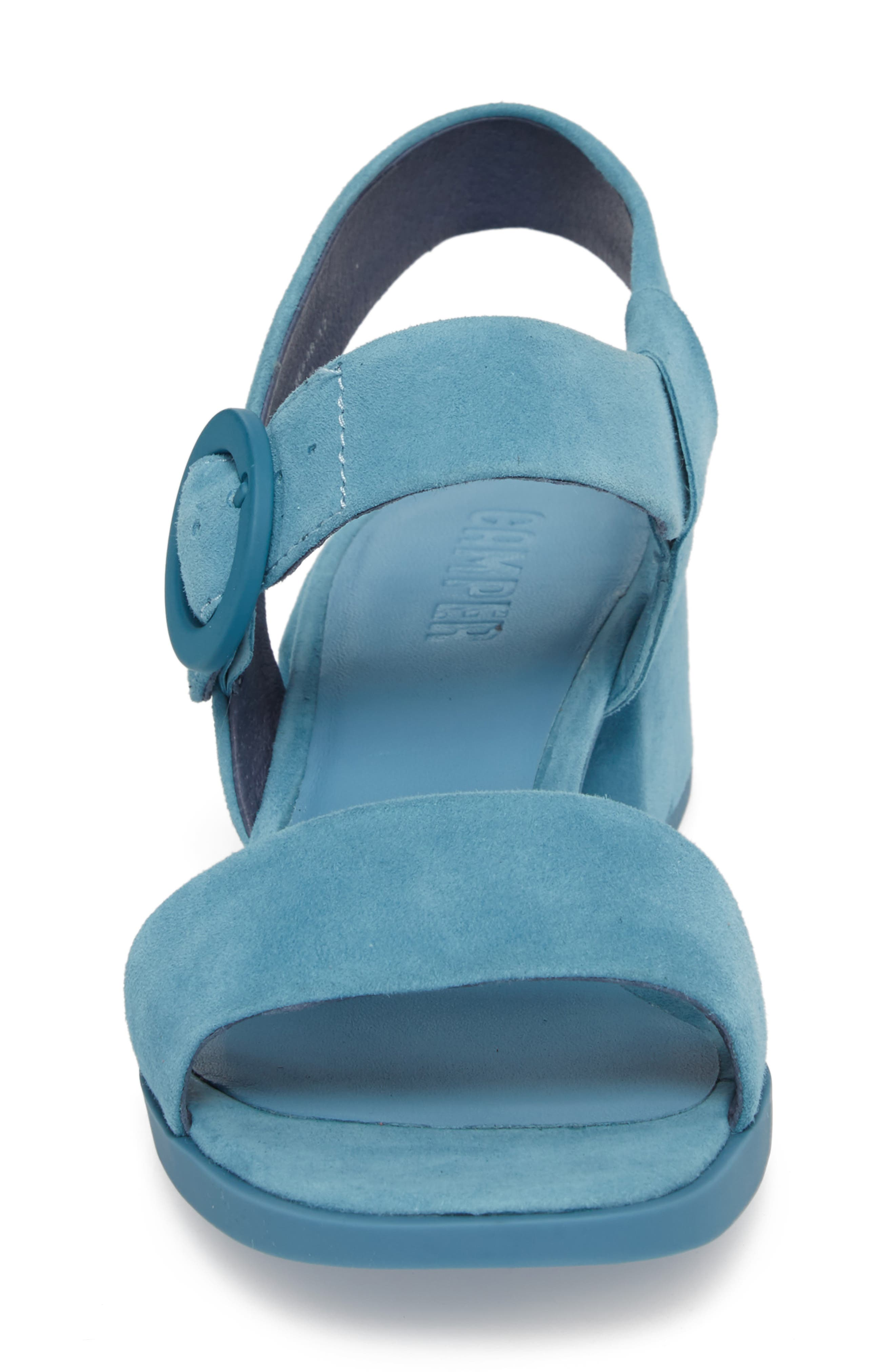 Kobo Sandal,                             Alternate thumbnail 4, color,                             Medium Blue Suede