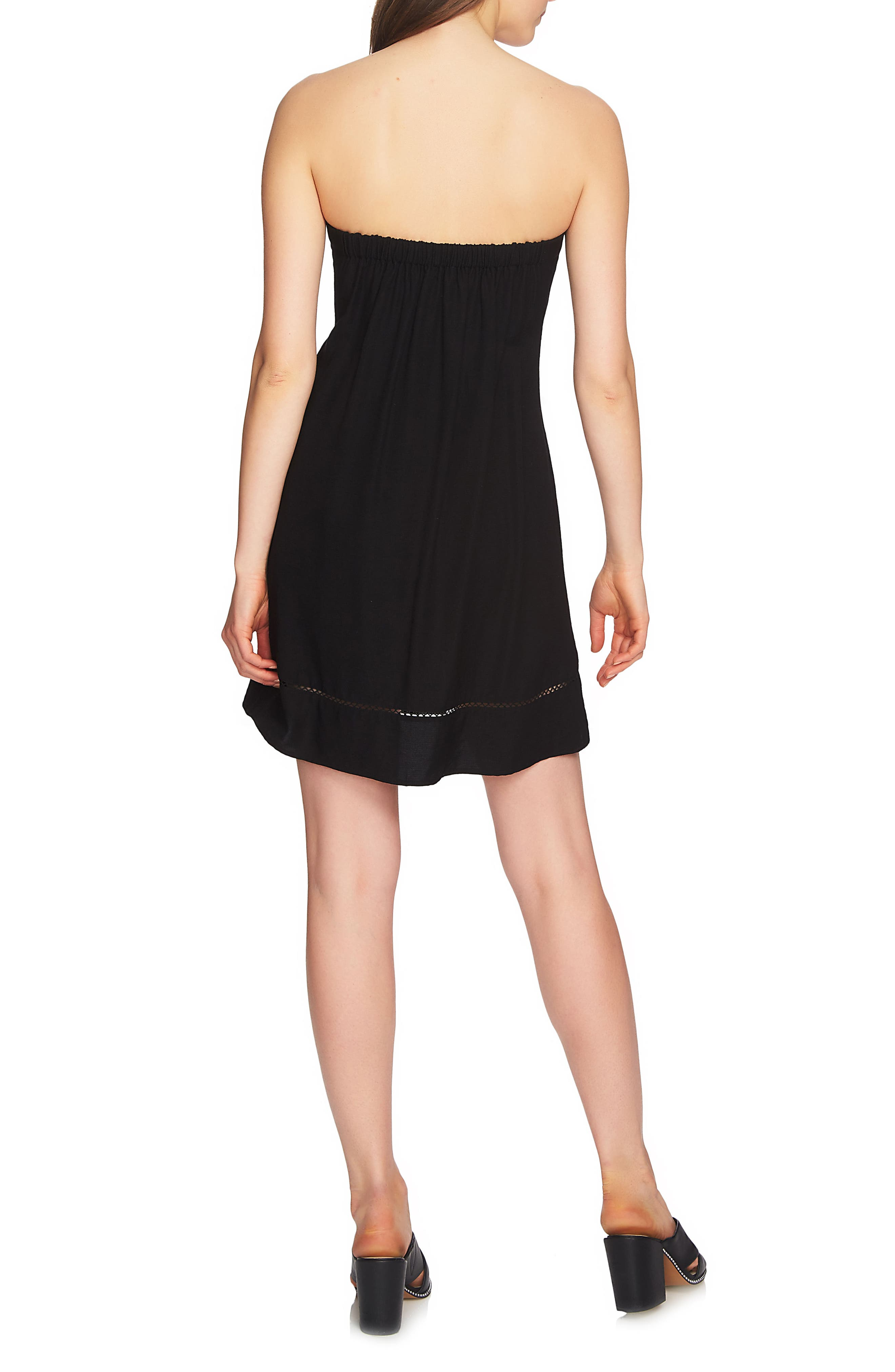 Alternate Image 4  - 1.STATE Strapless Tie Front Dress