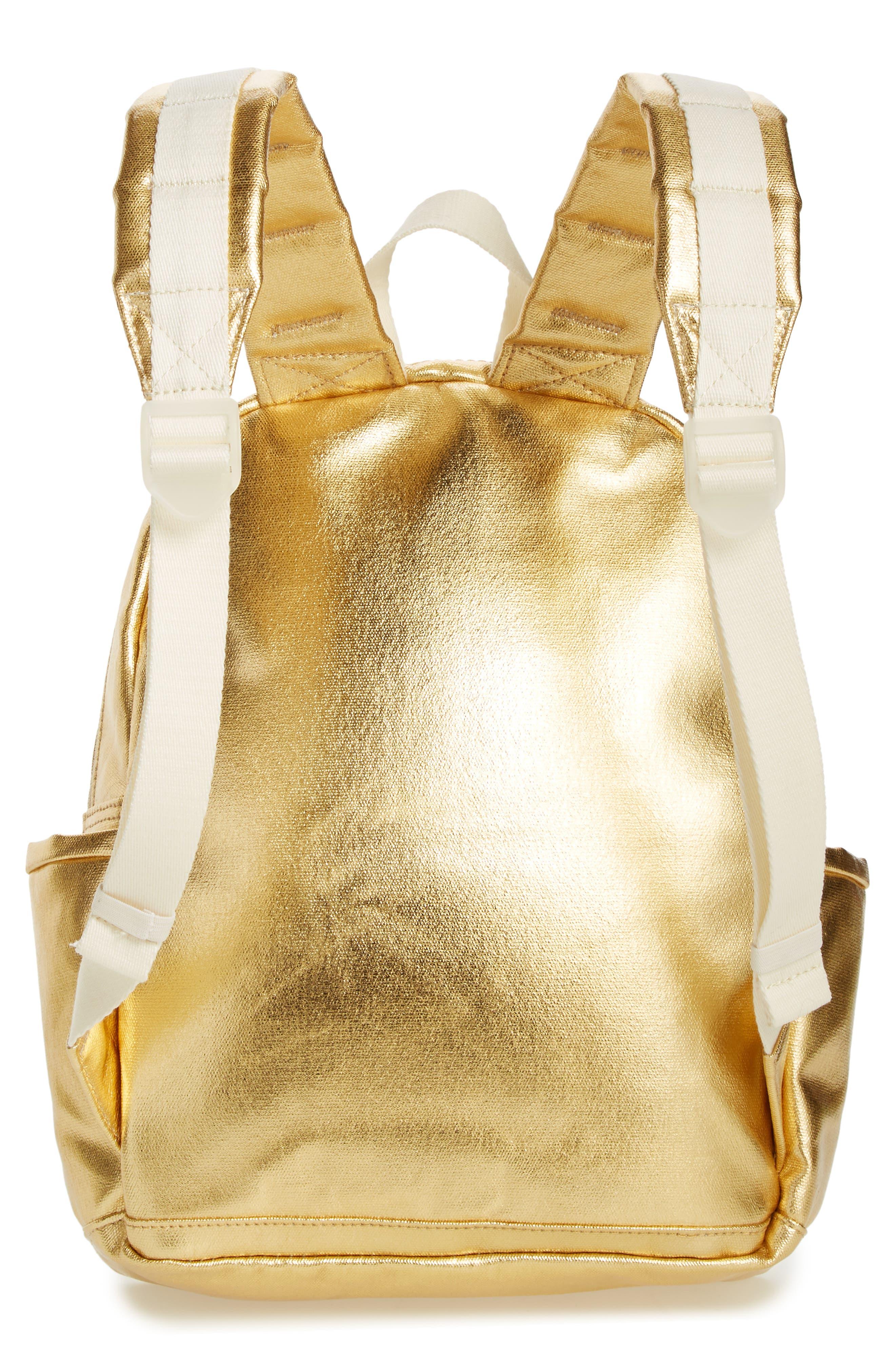 Downtown Mini Kane Metallic Backpack,                             Alternate thumbnail 3, color,                             Gold