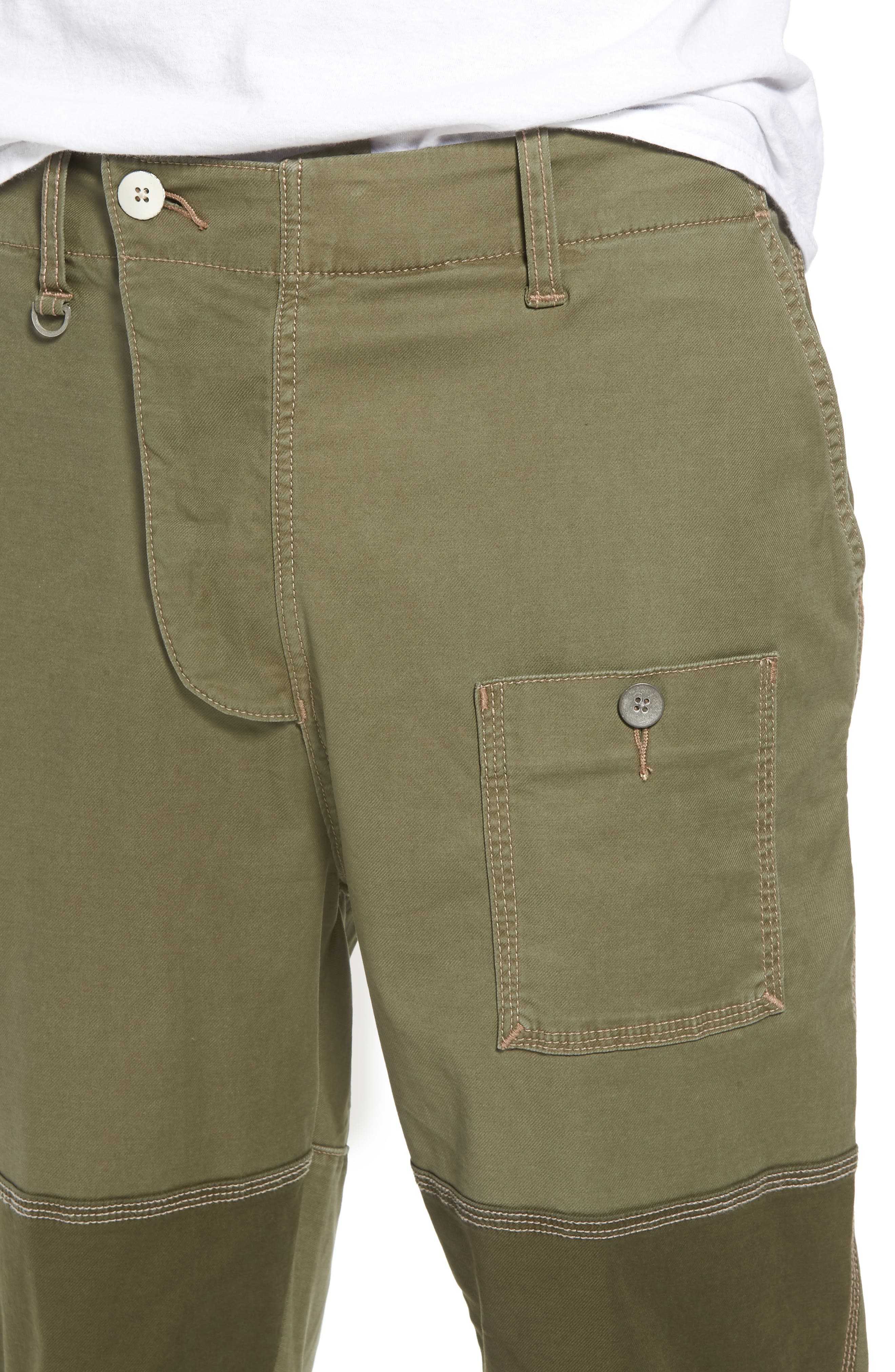 Slouchy Slim Fit Cargo Pants,                             Alternate thumbnail 4, color,                             Army Green 1