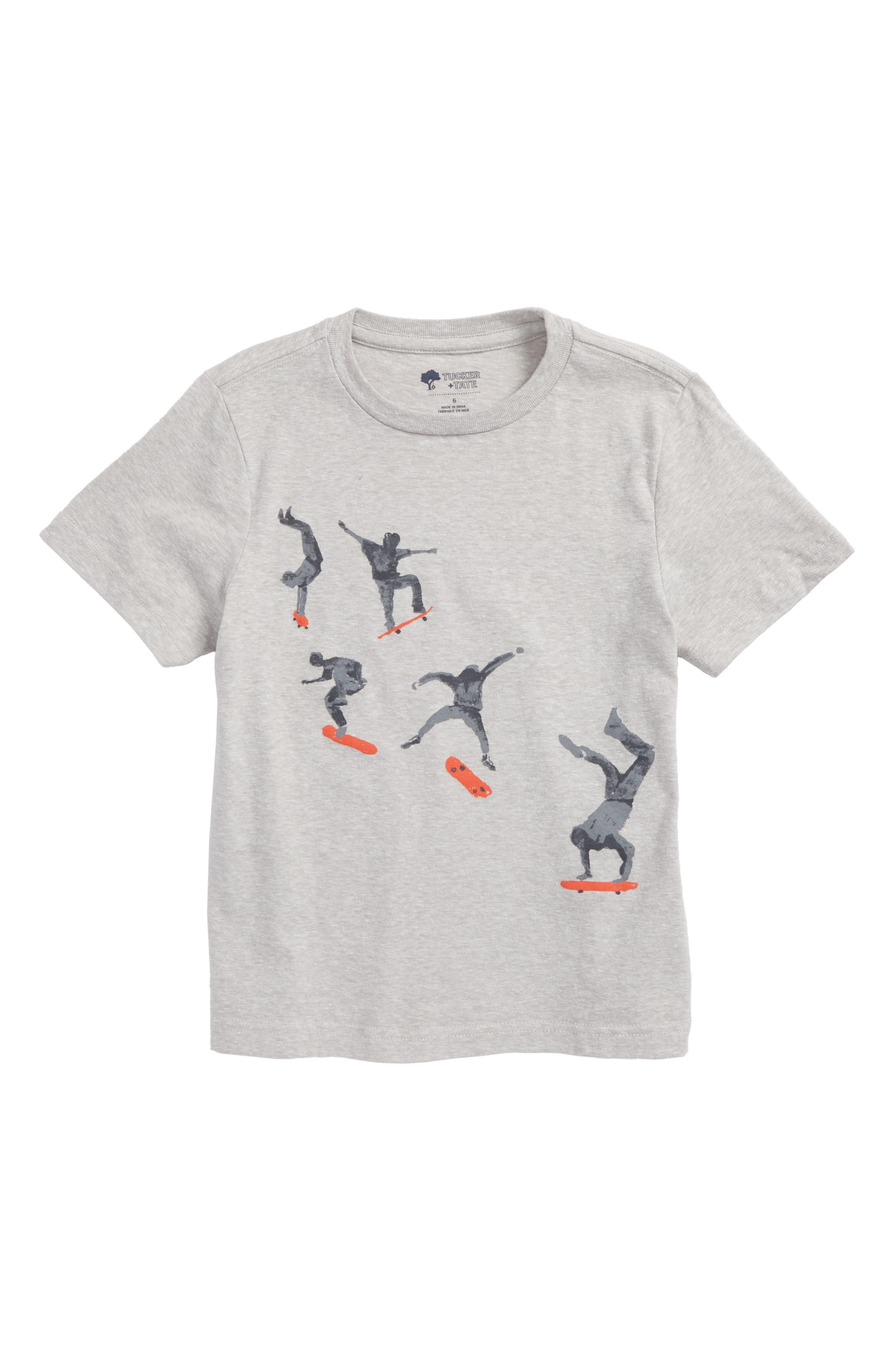 Graphic T-Shirt,                         Main,                         color, Grey Ash Heather Skater