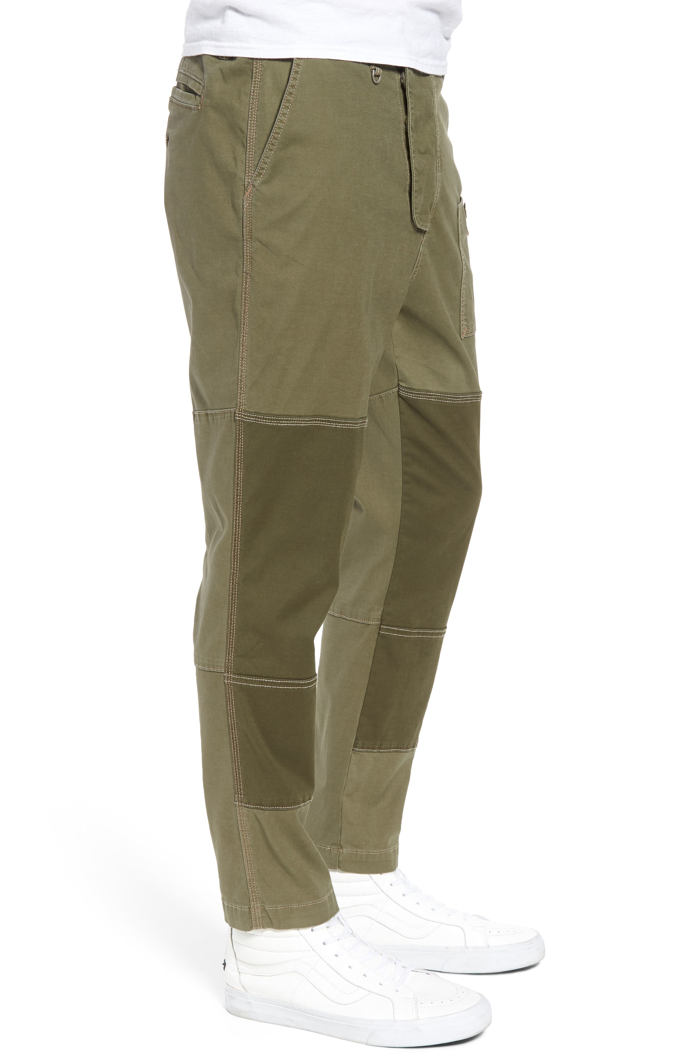Slouchy Slim Fit Cargo Pants,                             Alternate thumbnail 3, color,                             Army Green 1
