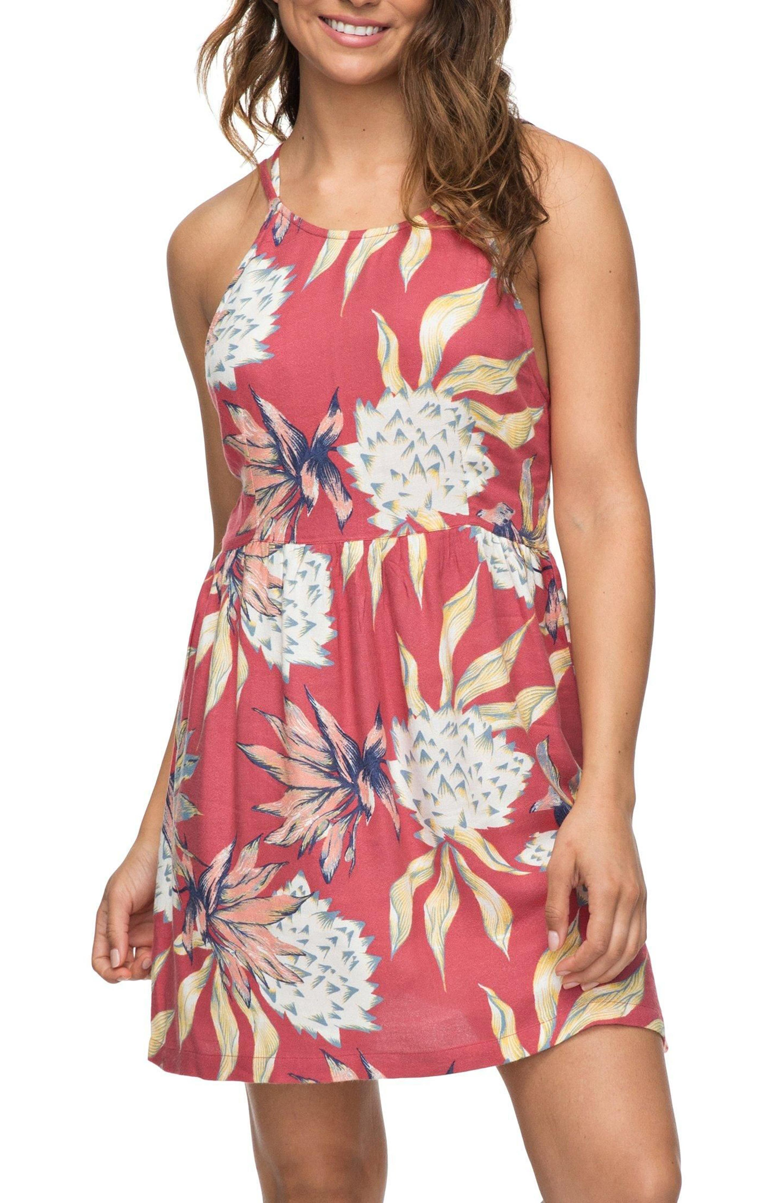 Antelope Curves Print Sundress,                         Main,                         color, Holly Berry House Of The Sun