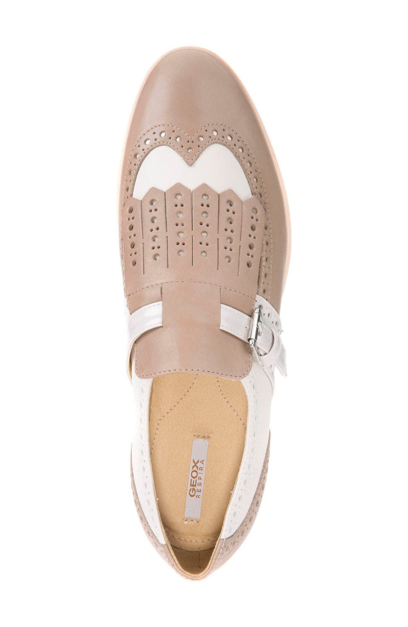 Janalee Cutout Loafer,                             Alternate thumbnail 5, color,                             Sand Leather