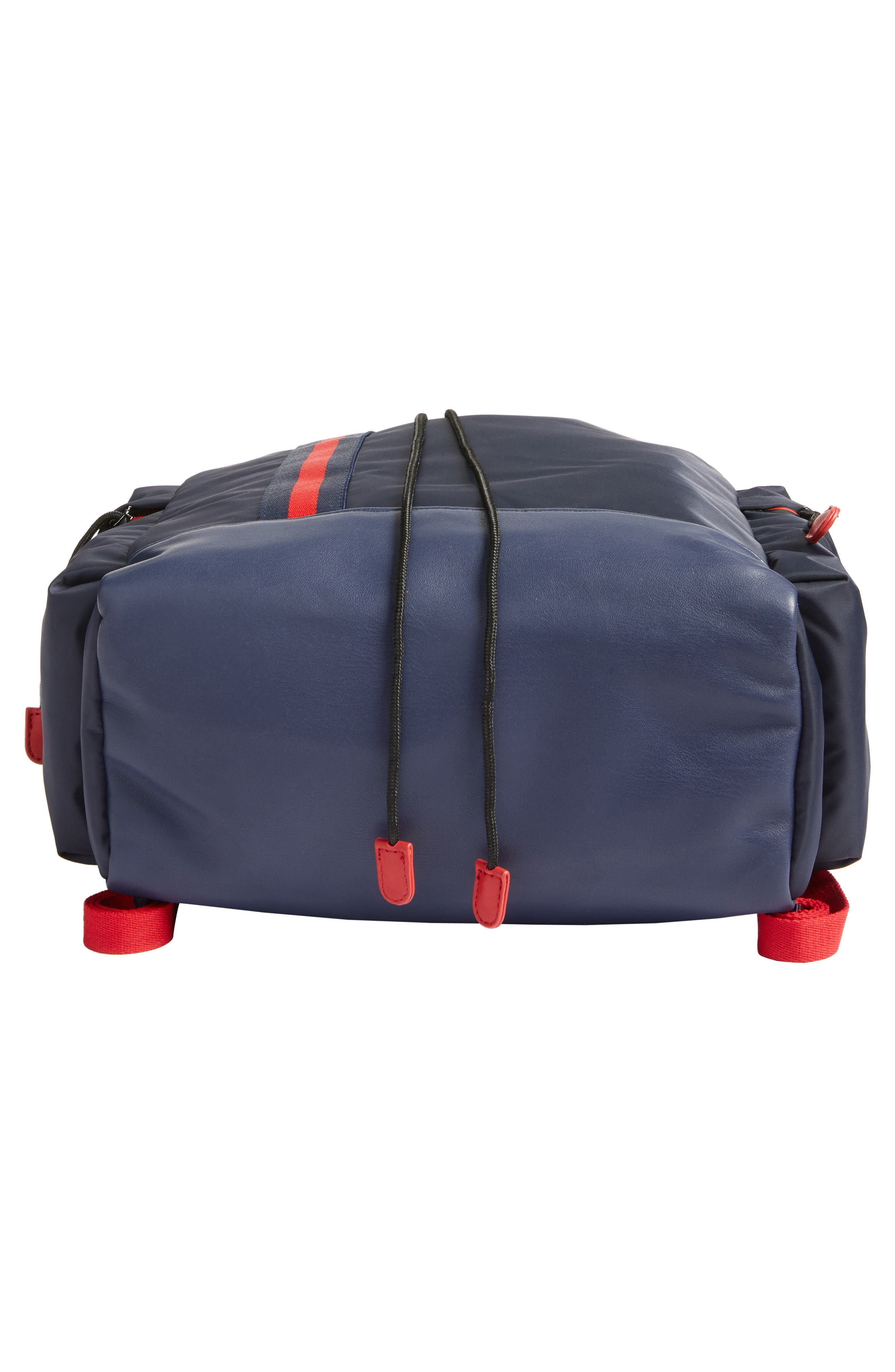 Yungg Stripe Strap Backpack,                             Alternate thumbnail 6, color,                             Navy/ Red