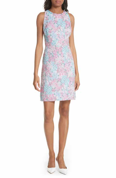kate spade new york jacquard a-line dress