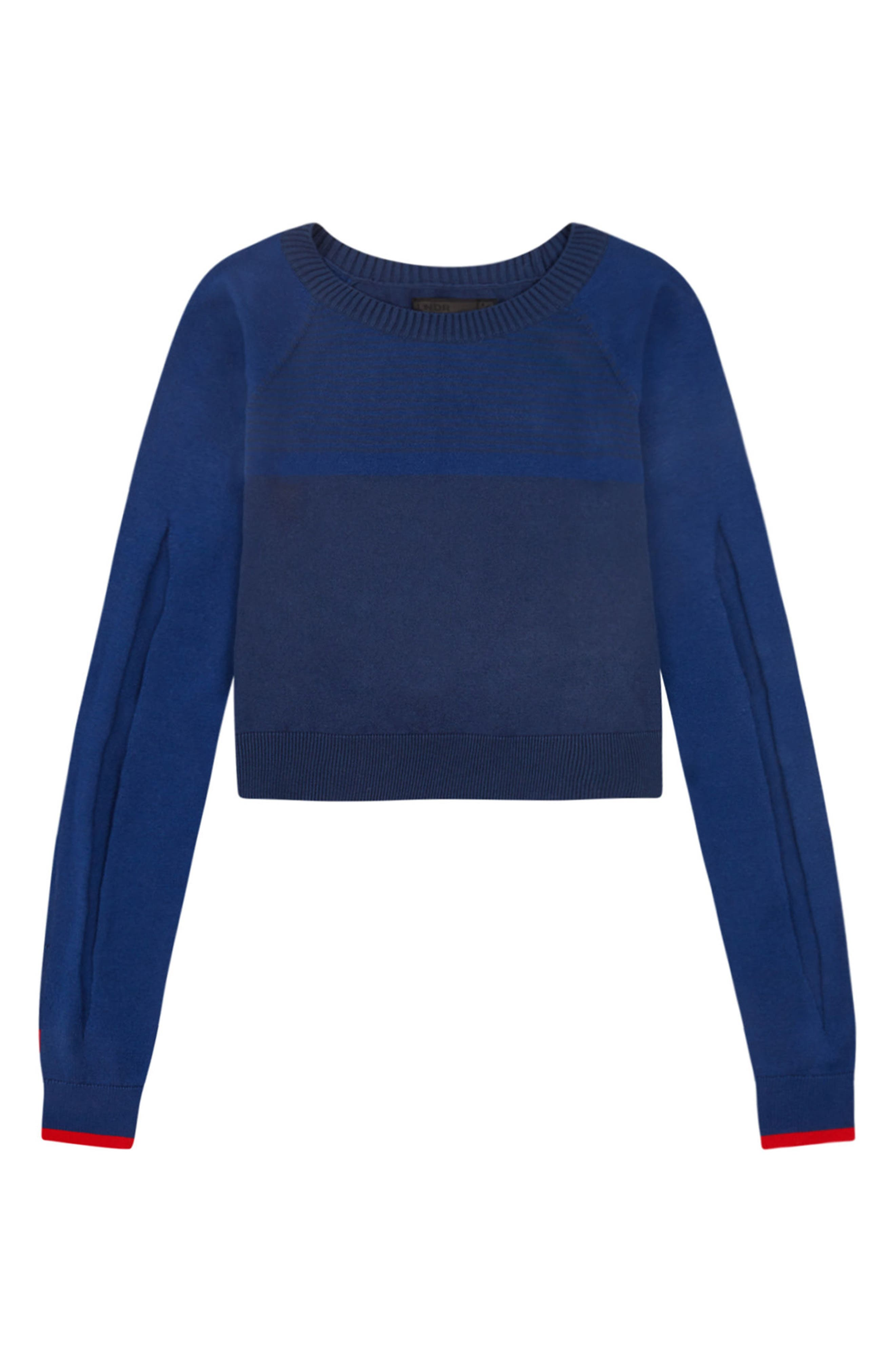 Prism Cropped Sweater,                             Alternate thumbnail 7, color,                             Blue
