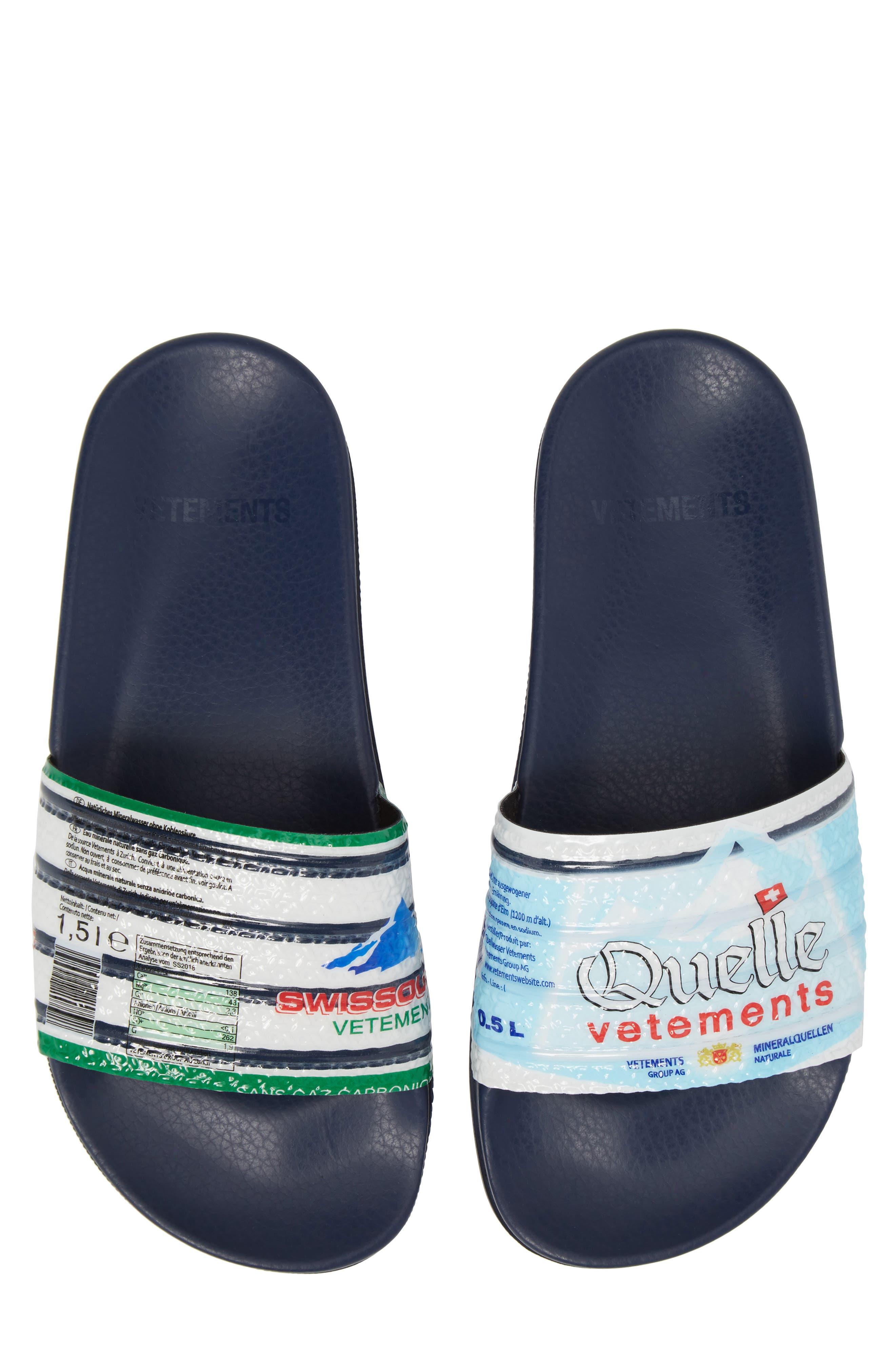 Print Slide Sandal,                         Main,                         color, Navy/Quelle Prnt