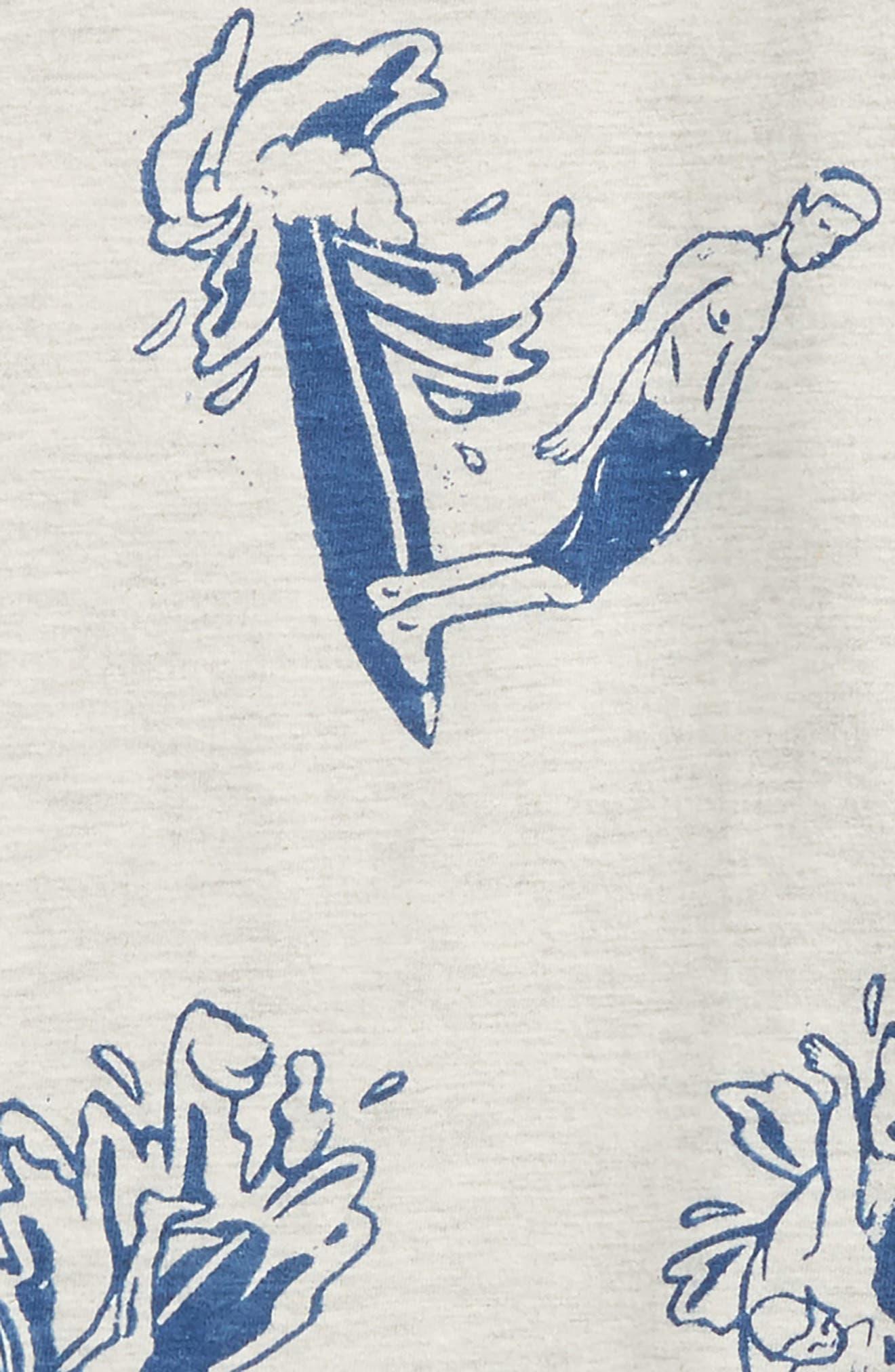 Allover Print T-Shirt,                             Alternate thumbnail 2, color,                             Grey