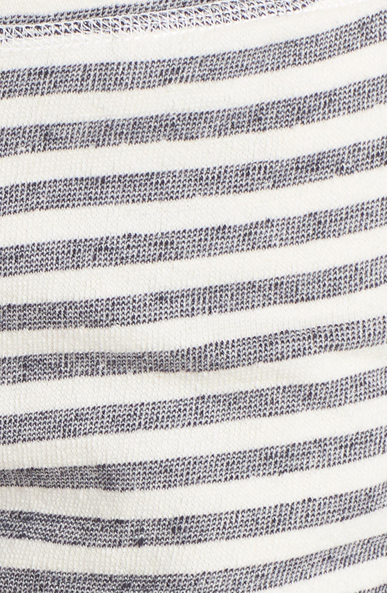 Stripe Pajama Shorts,                             Alternate thumbnail 6, color,                             Ivory/ Navy Stripe