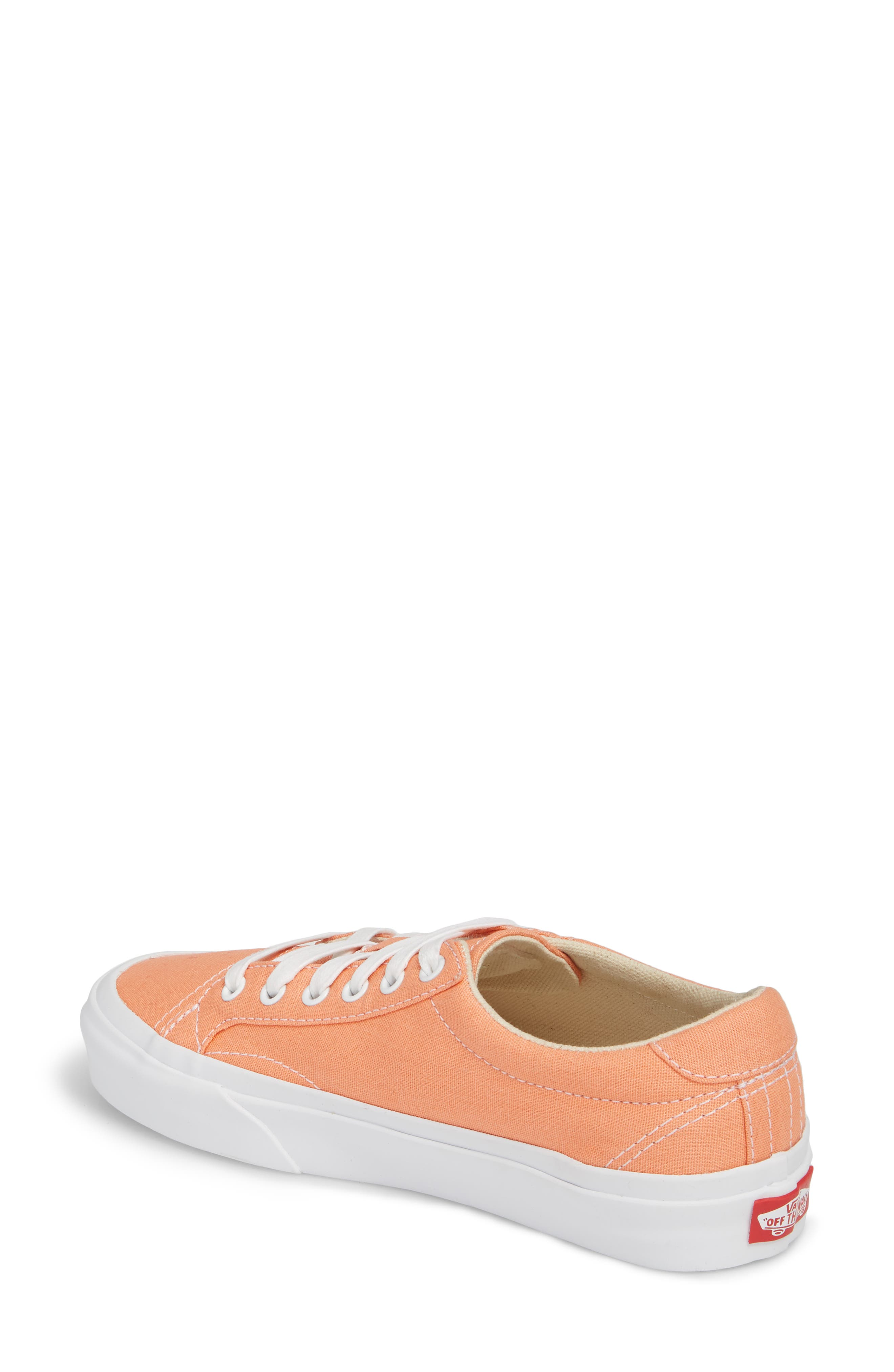 UA Court Low Top Sneaker,                             Alternate thumbnail 2, color,                             Peach Pink/ True White
