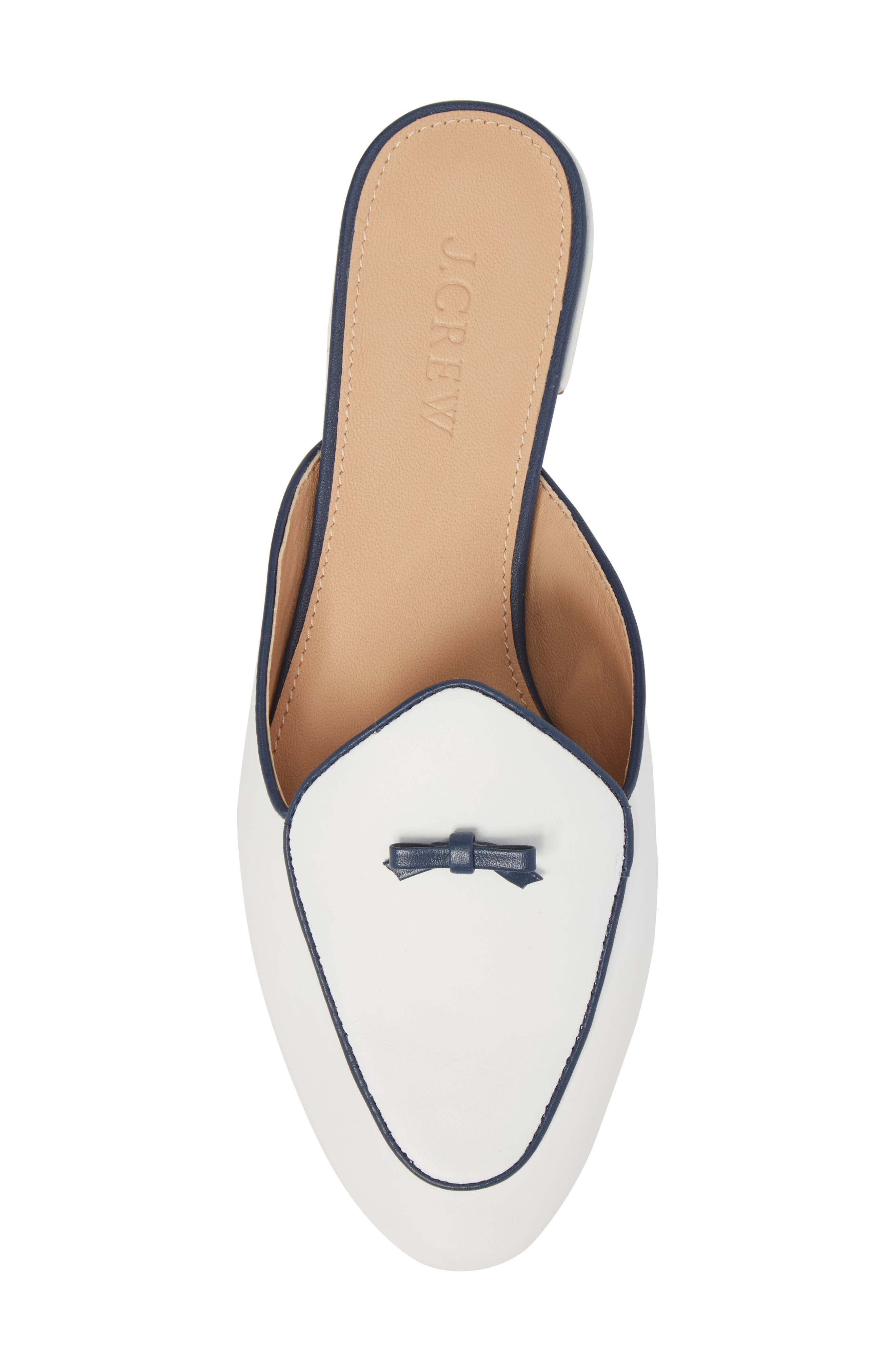 Loafer Mule,                             Alternate thumbnail 5, color,                             White Leather