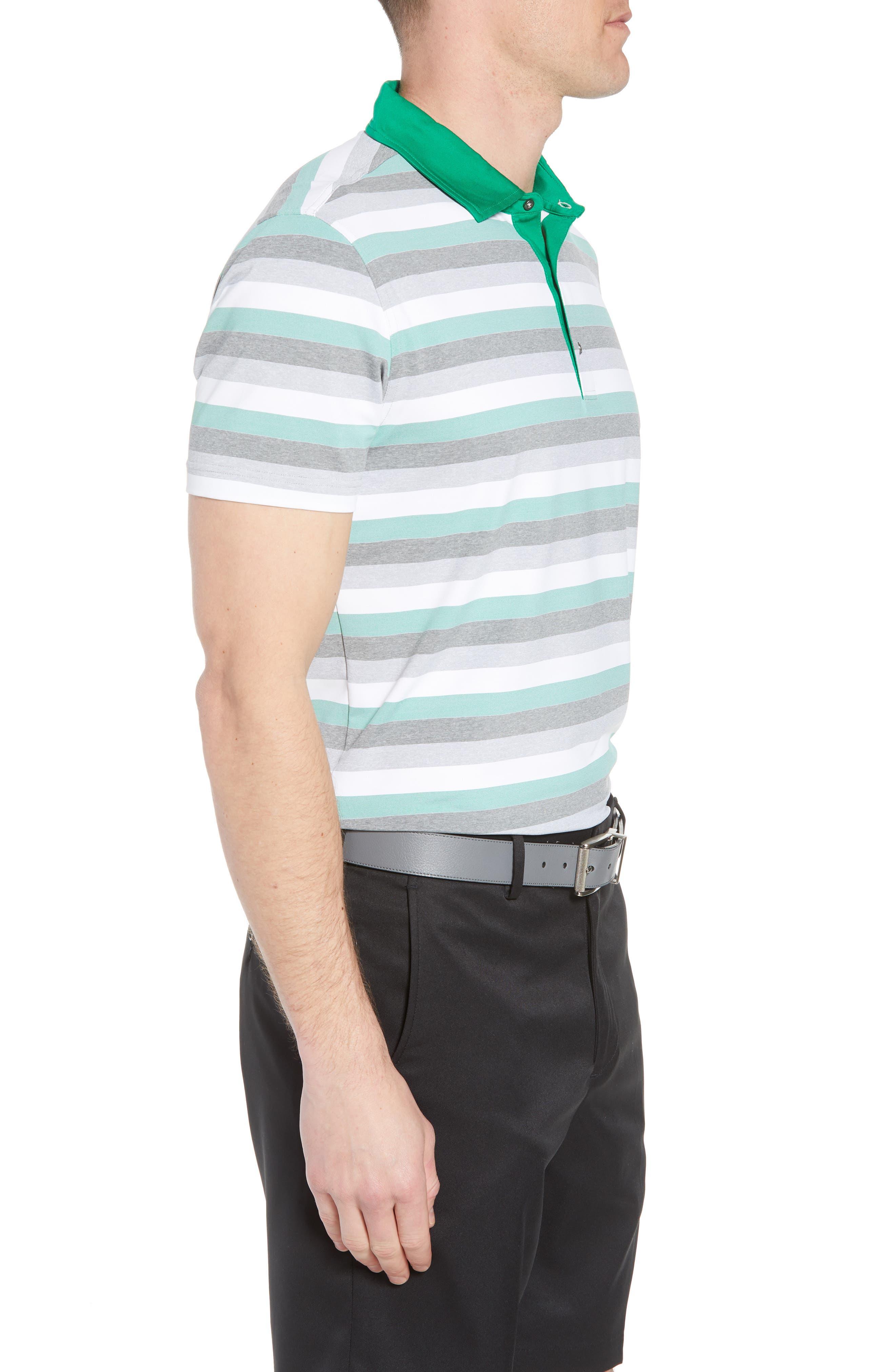 Tech Baylor Stripe Jersey Polo,                             Alternate thumbnail 3, color,                             Kelly