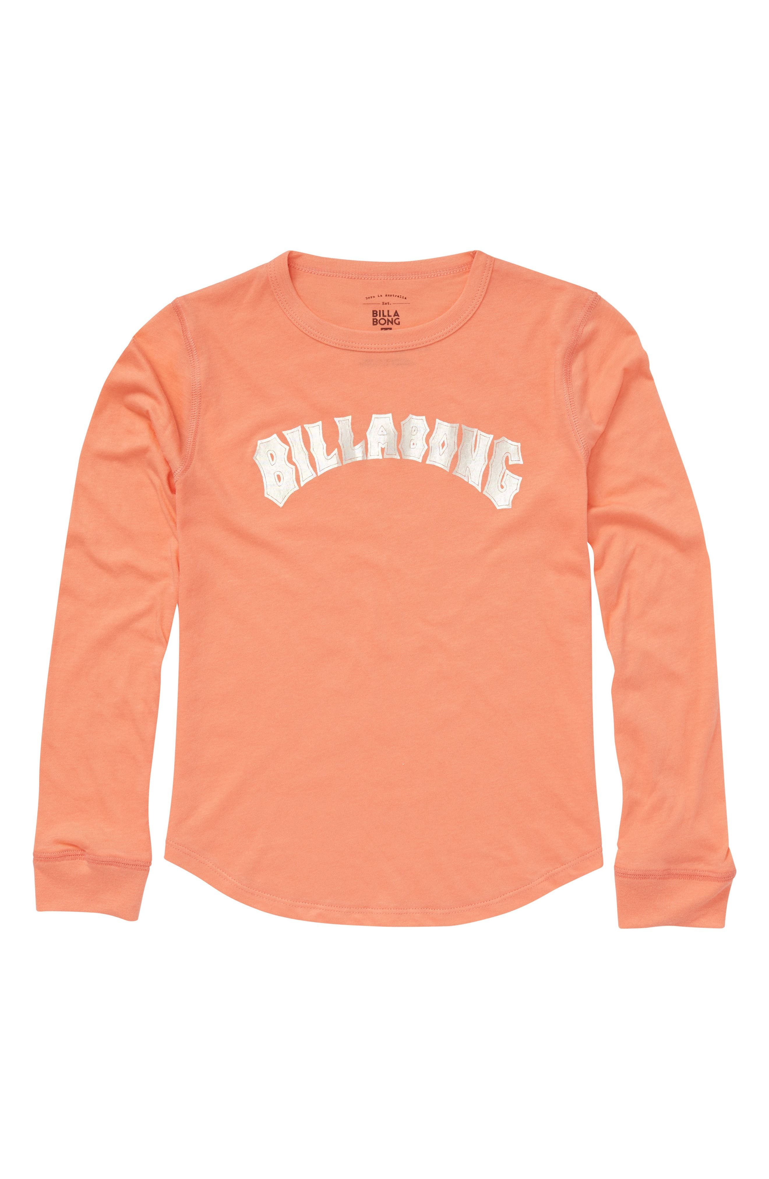 Heritage Logo Tee,                             Main thumbnail 1, color,                             Sunkissed Coral