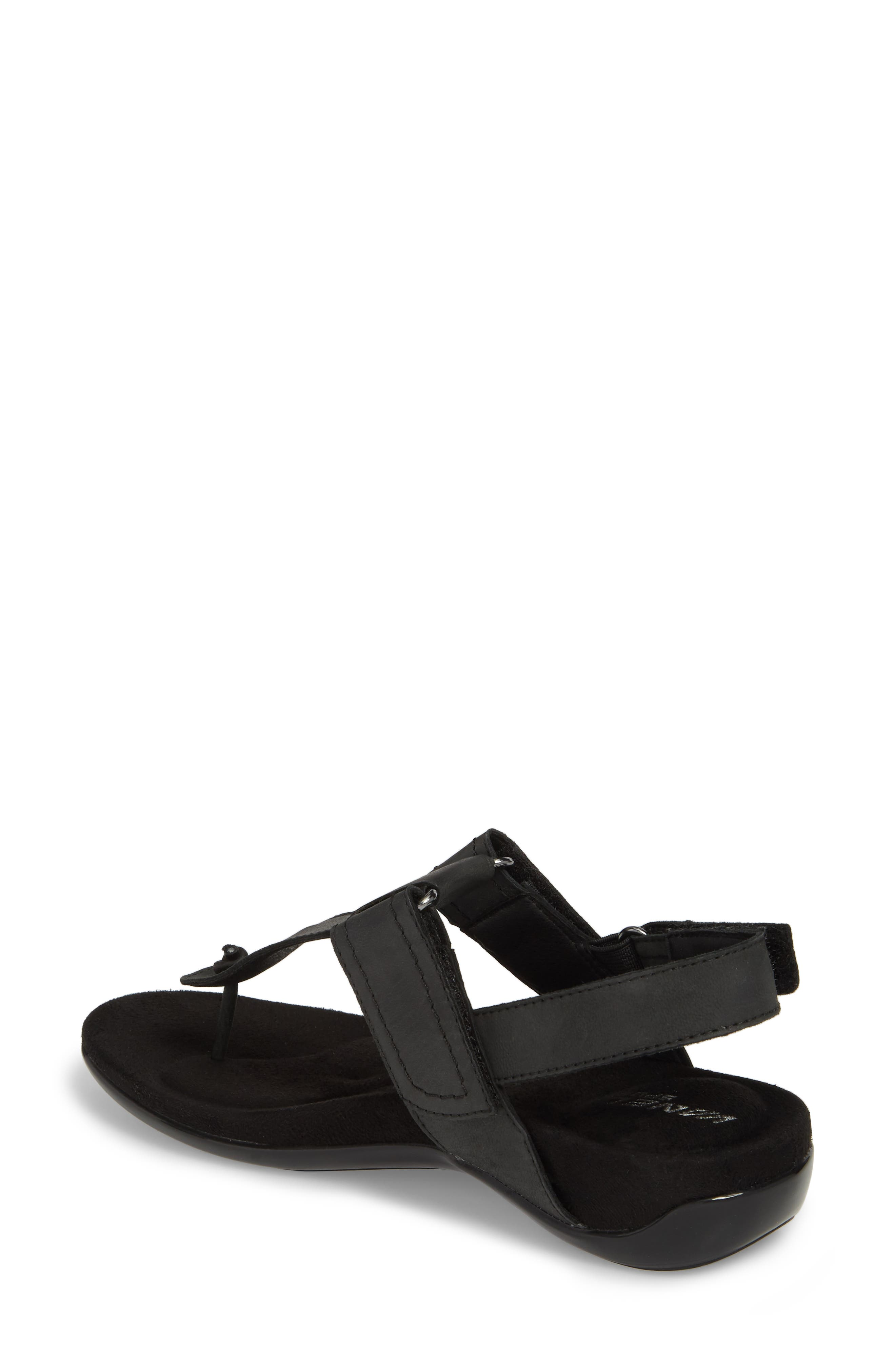 Valley Sandal,                             Alternate thumbnail 2, color,                             Black Leather