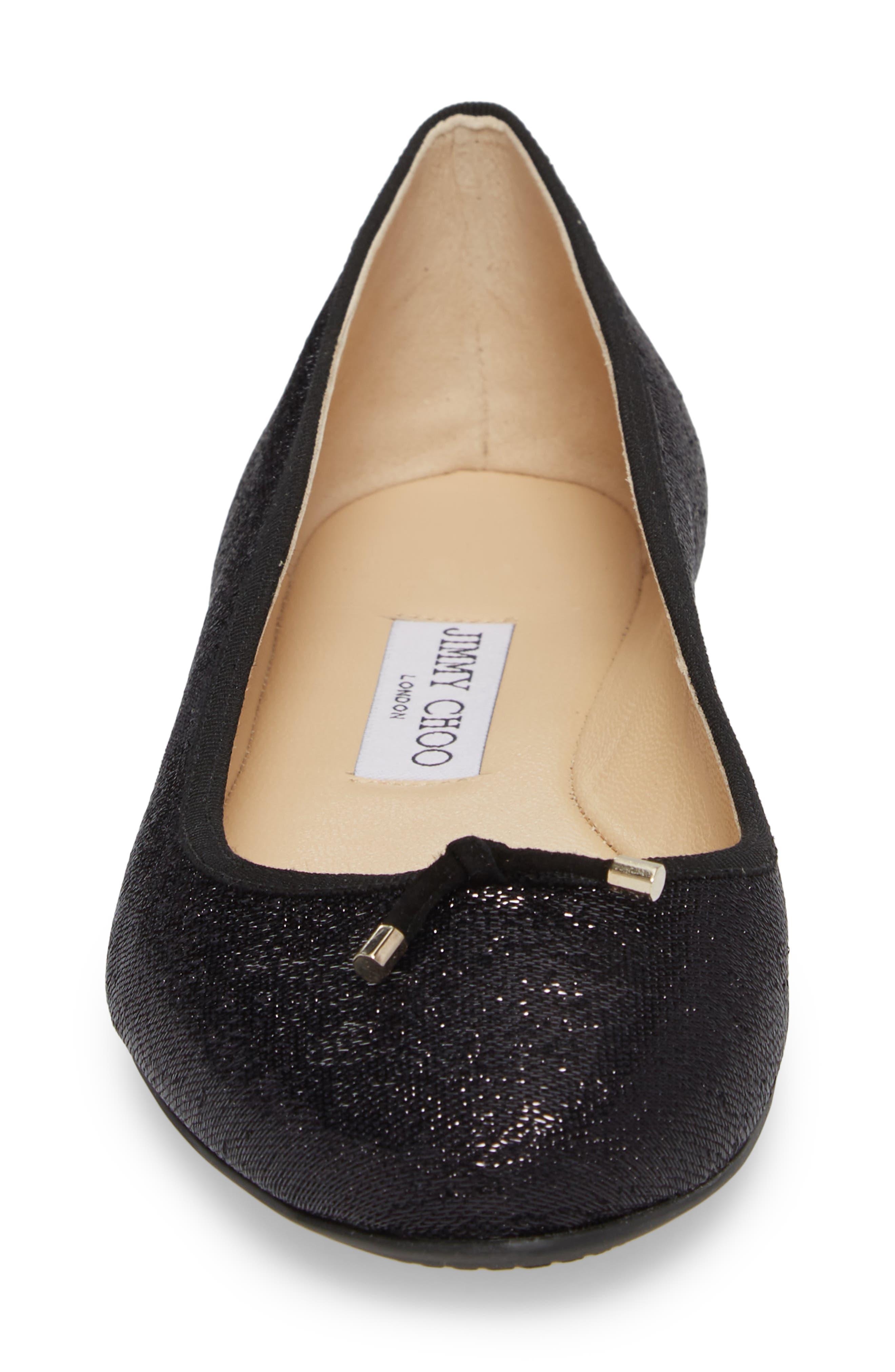 Jennie Ballet Flat,                             Alternate thumbnail 4, color,                             Black