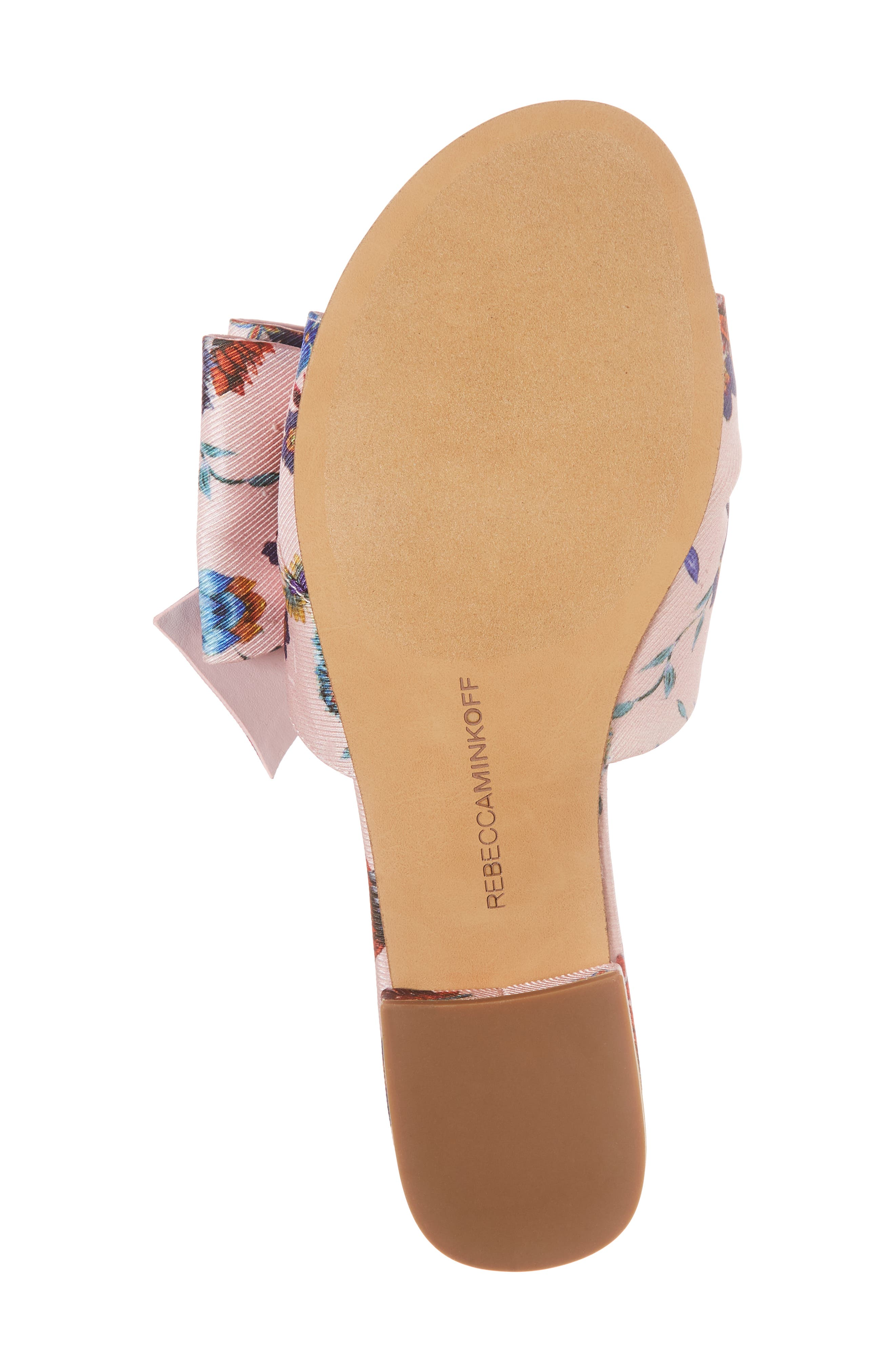 Calista Slide Sandal,                             Alternate thumbnail 6, color,                             Millennial Pink Multi Fabric