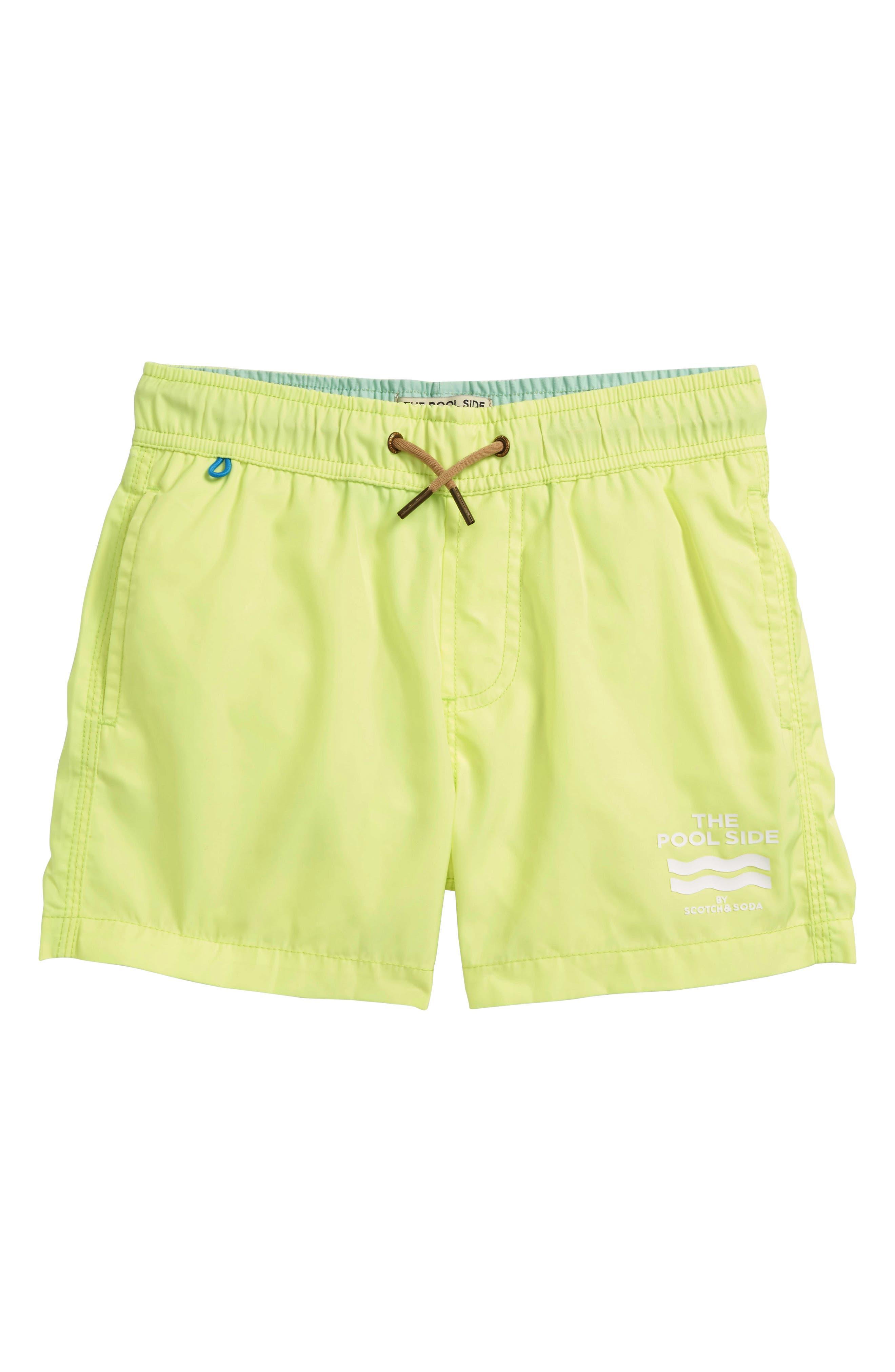 Swim Trunks,                         Main,                         color, Citrine