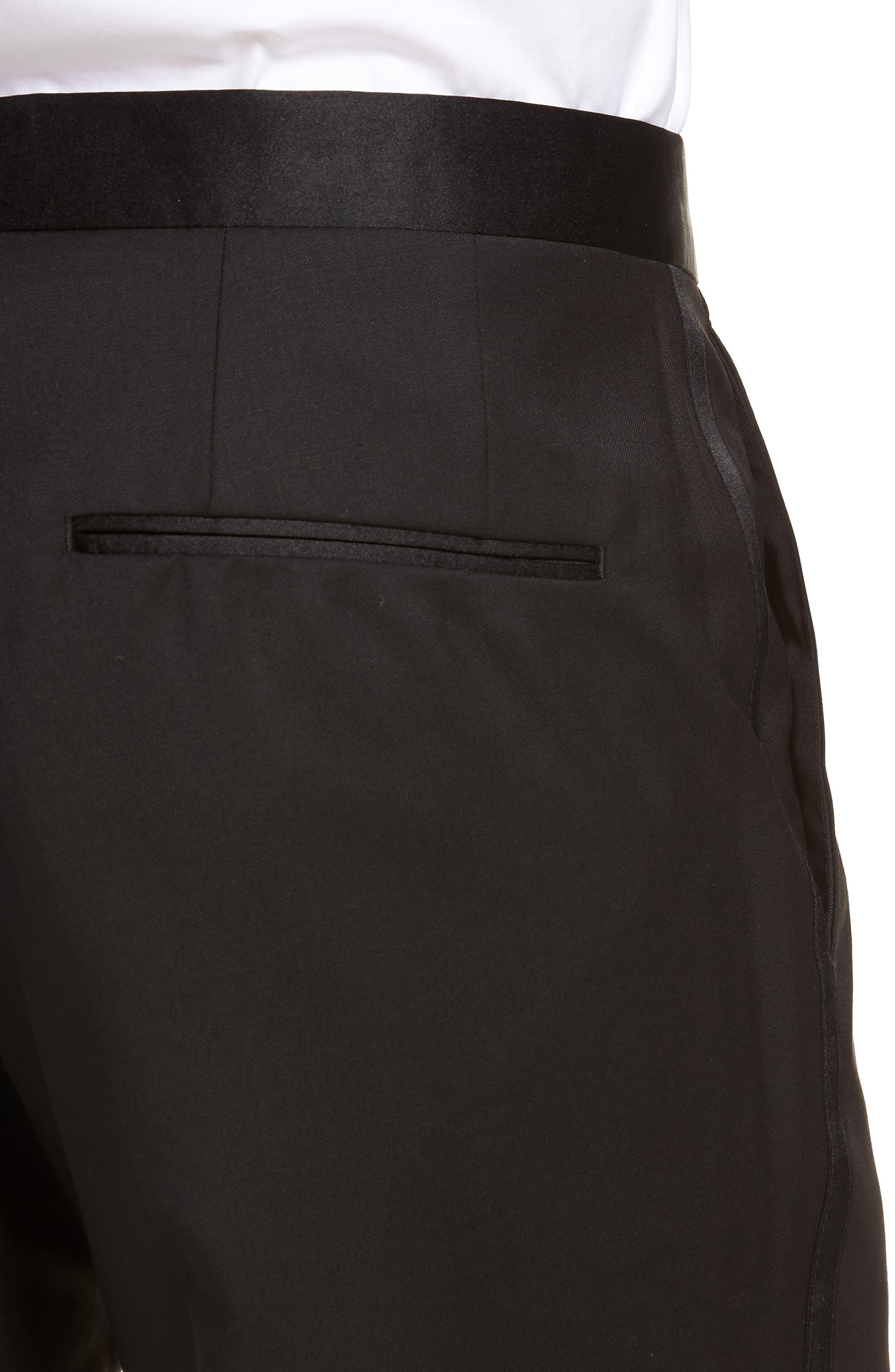 Alternate Image 4  - BOSS Gilan CYL Flat Front Wool Trousers