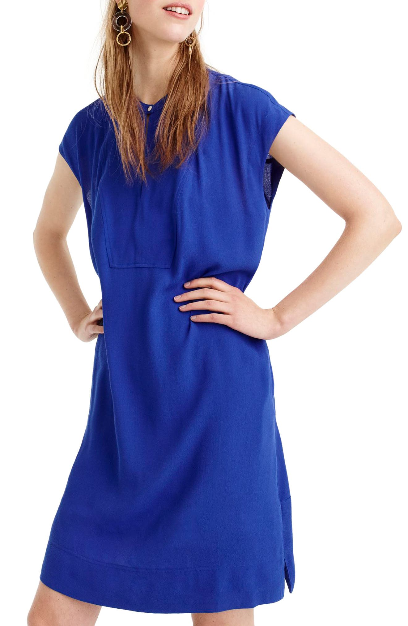 Easy Tunic Dress,                             Main thumbnail 1, color,                             Bright Ocean