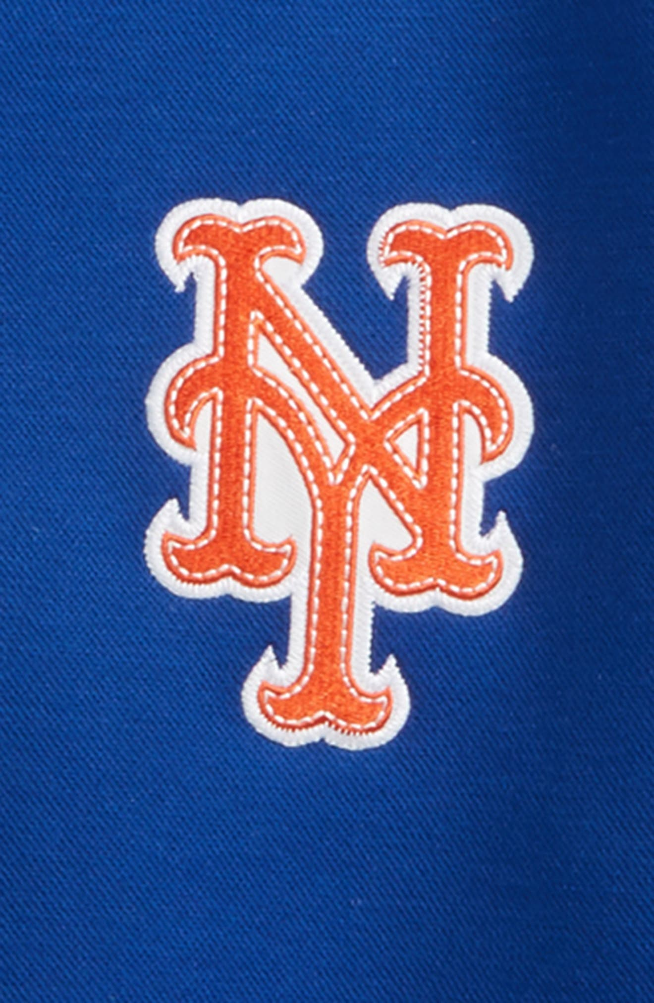 Alternate Image 2  - Majestic MLB Classical New York Mets Knit Varsity Jacket
