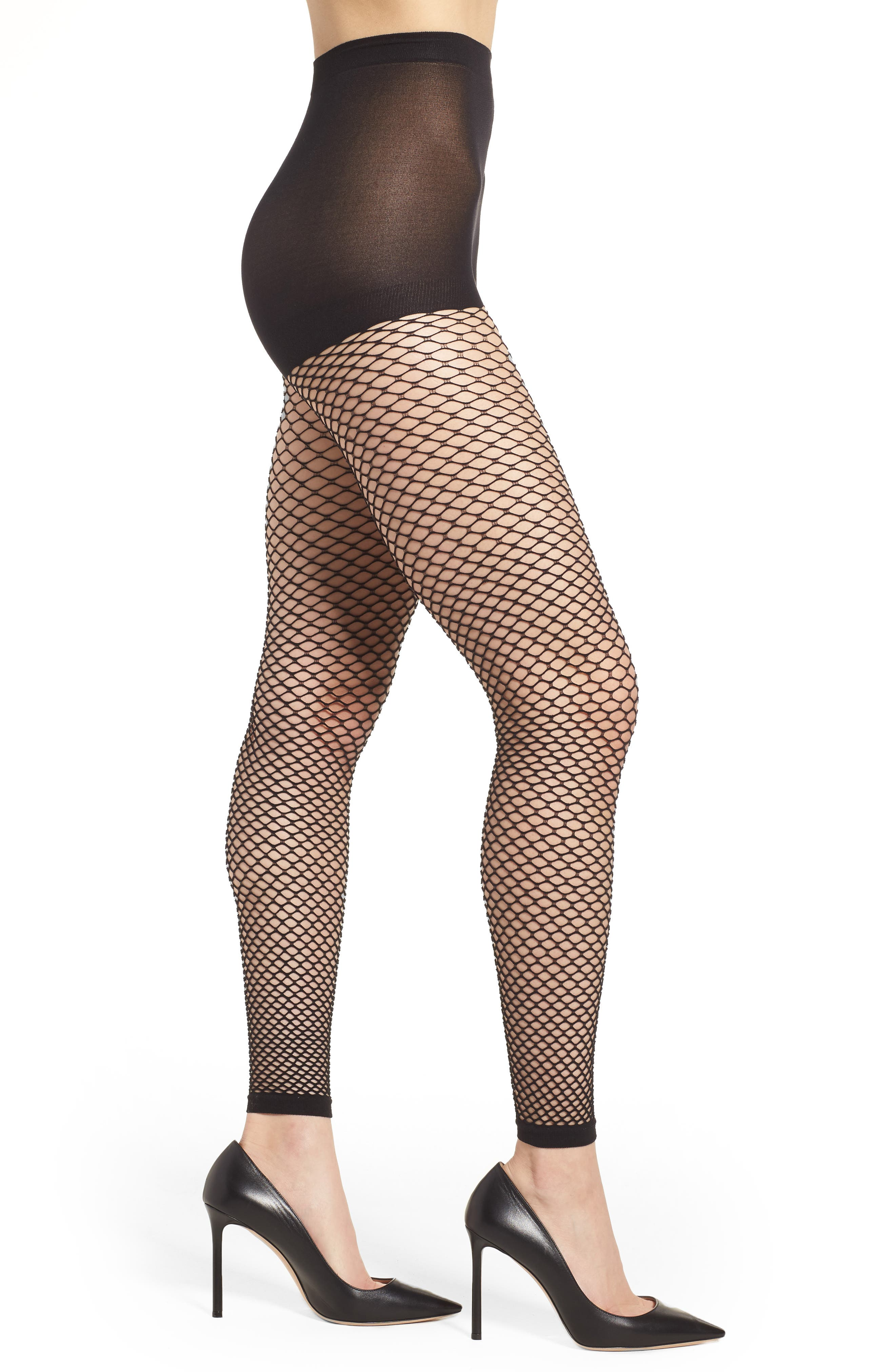 Footless Summer Fishnet Tights,                         Main,                         color, Black
