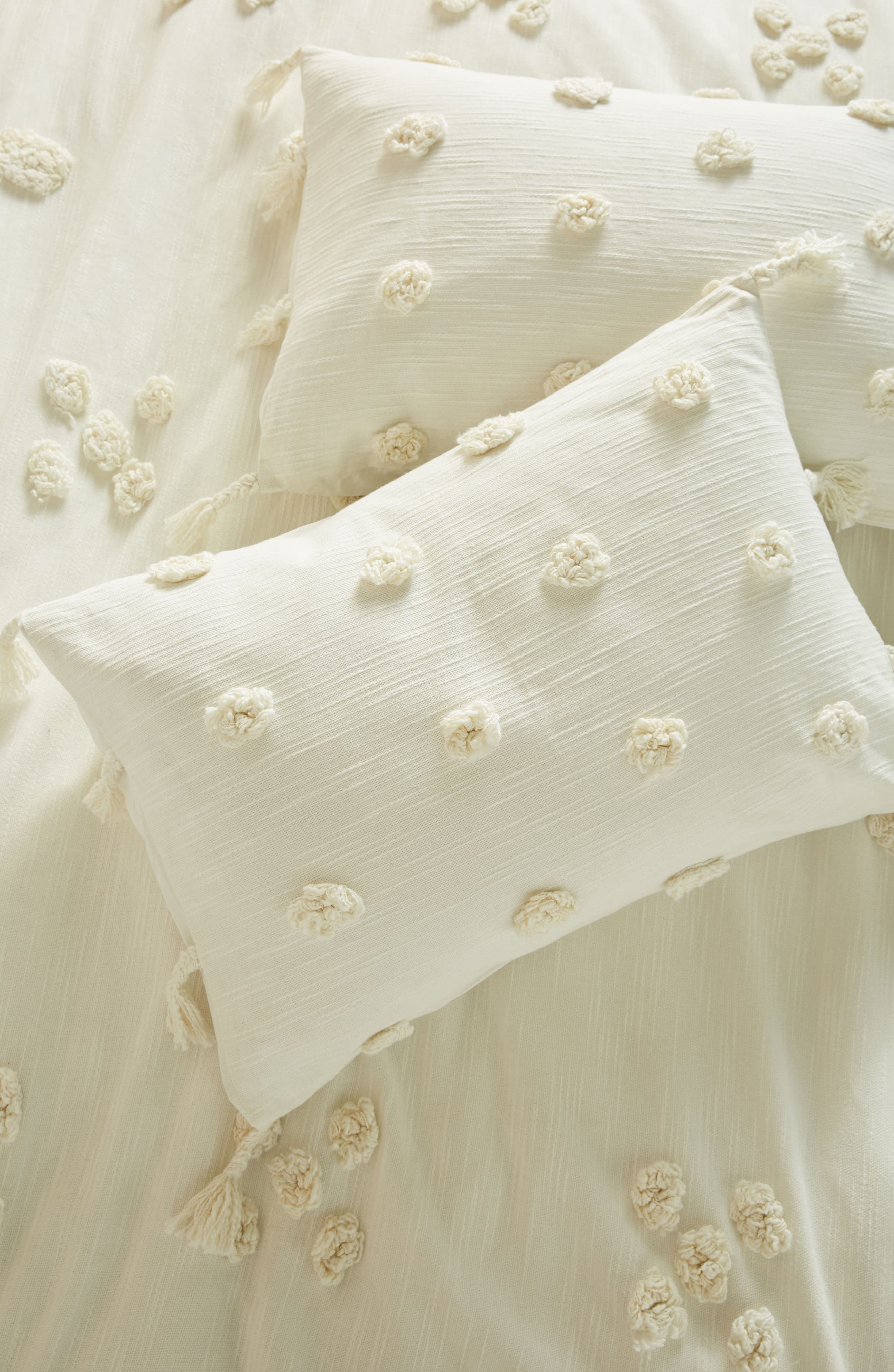 Tufted Pavarti Pillow Shams,                             Main thumbnail 1, color,                             Ivory