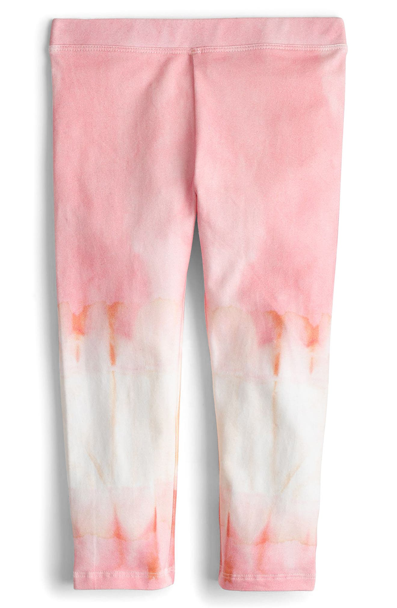 Tie Dye Leggings,                             Main thumbnail 1, color,                             Neon Pink Orange