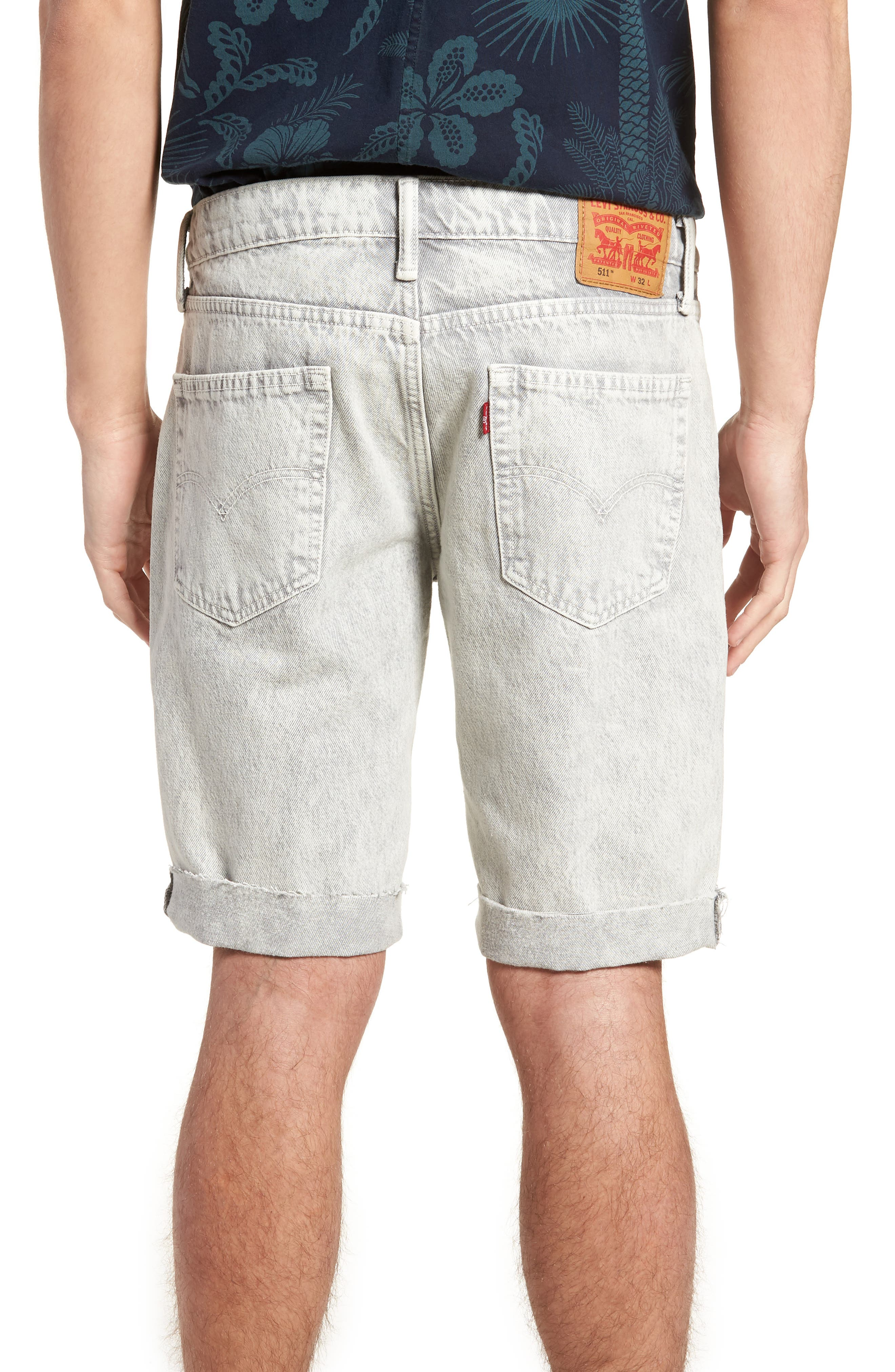 511<sup>™</sup> Cutoff Slim Fit Shorts,                             Alternate thumbnail 2, color,                             Silver Slippers