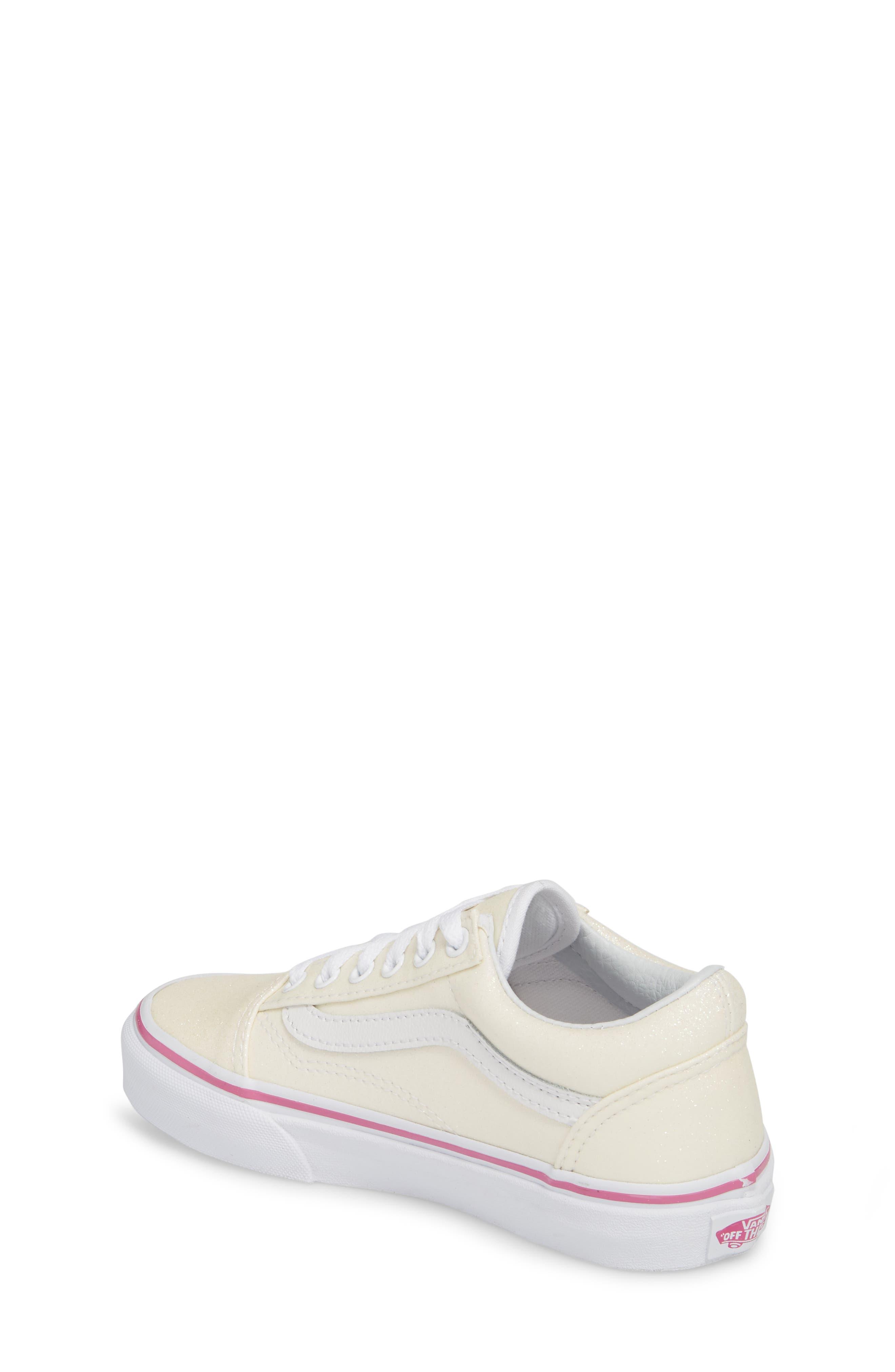 Old Skool Sneaker,                             Alternate thumbnail 2, color,                             Rainbow White Glitter